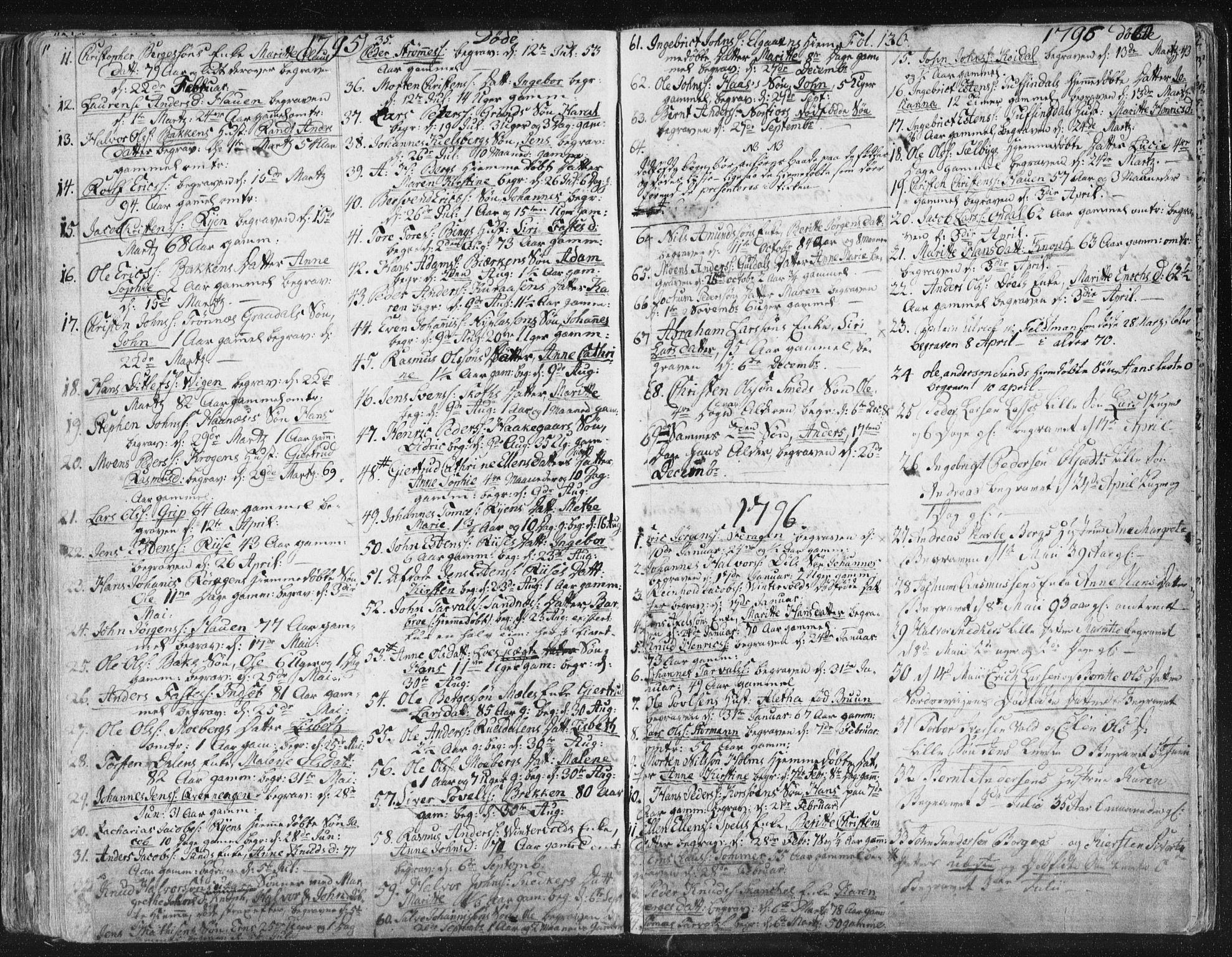 SAT, Ministerialprotokoller, klokkerbøker og fødselsregistre - Sør-Trøndelag, 681/L0926: Parish register (official) no. 681A04, 1767-1797, p. 136