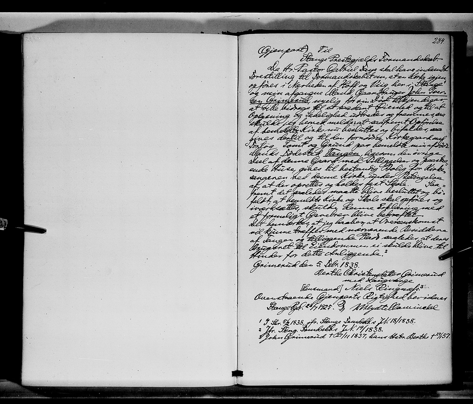 SAH, Stange prestekontor, K/L0014: Parish register (official) no. 14, 1862-1879, p. 284
