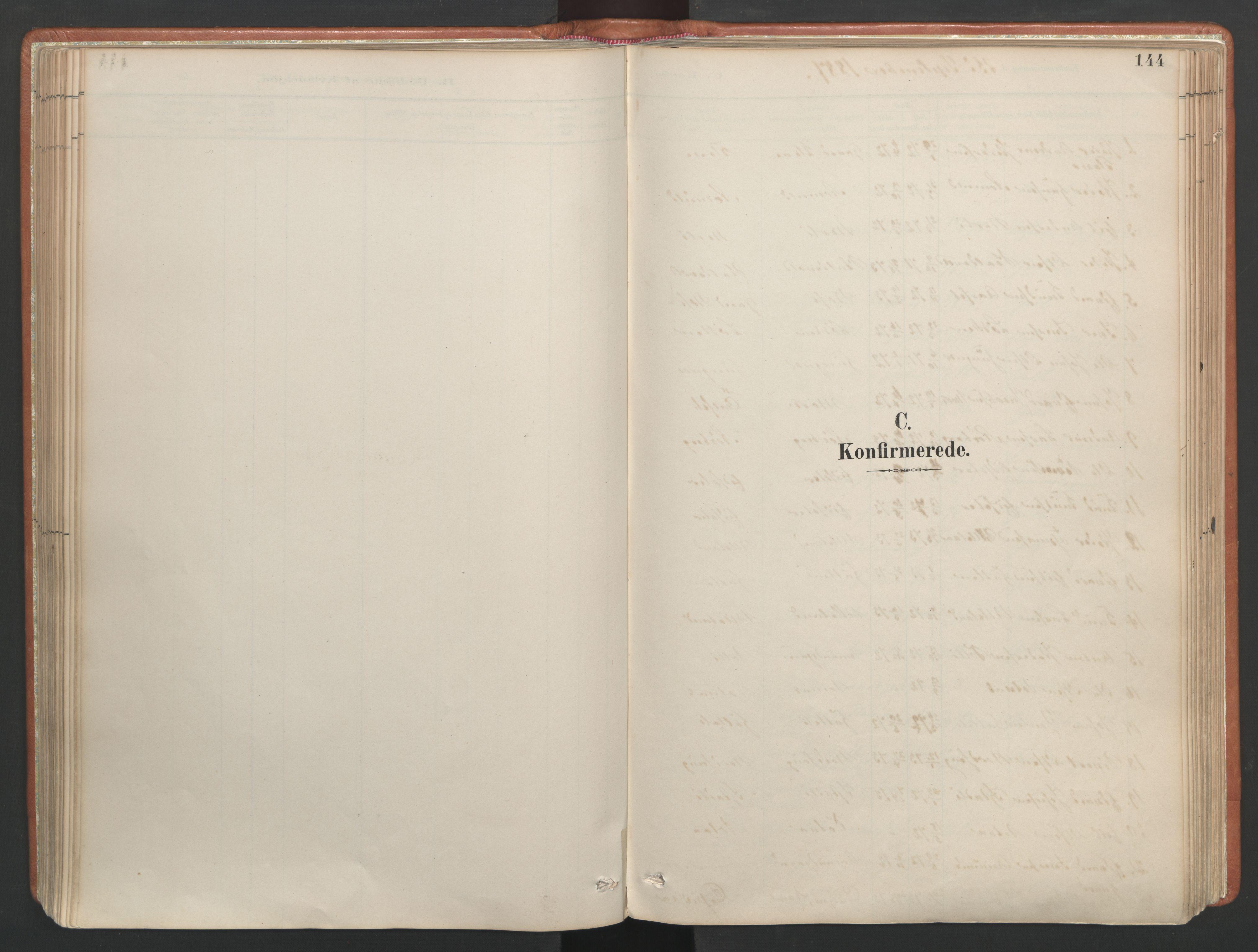 SAT, Ministerialprotokoller, klokkerbøker og fødselsregistre - Møre og Romsdal, 557/L0682: Parish register (official) no. 557A04, 1887-1970, p. 144