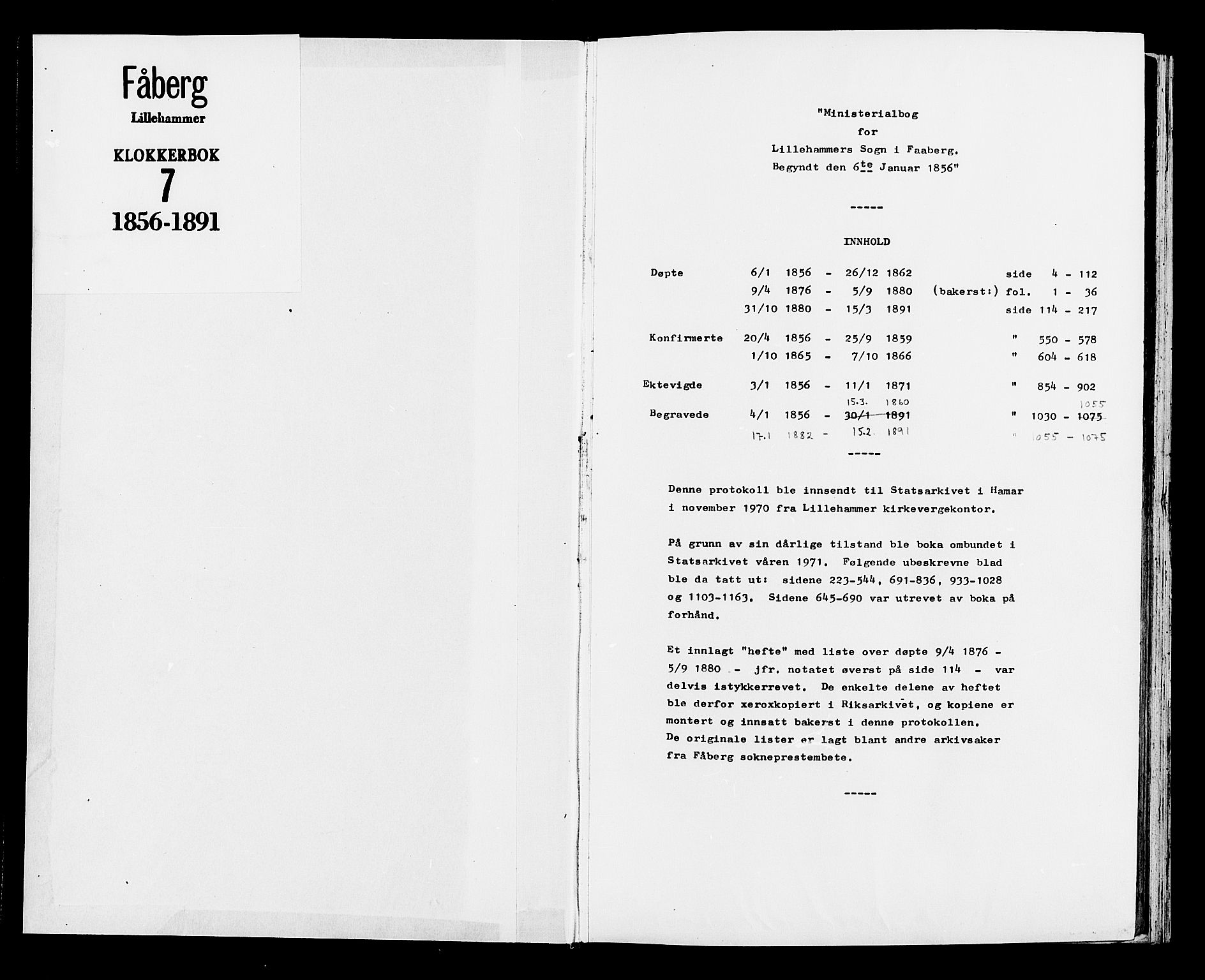 SAH, Fåberg prestekontor, H/Ha/Hab/L0007: Parish register (copy) no. 7, 1856-1891