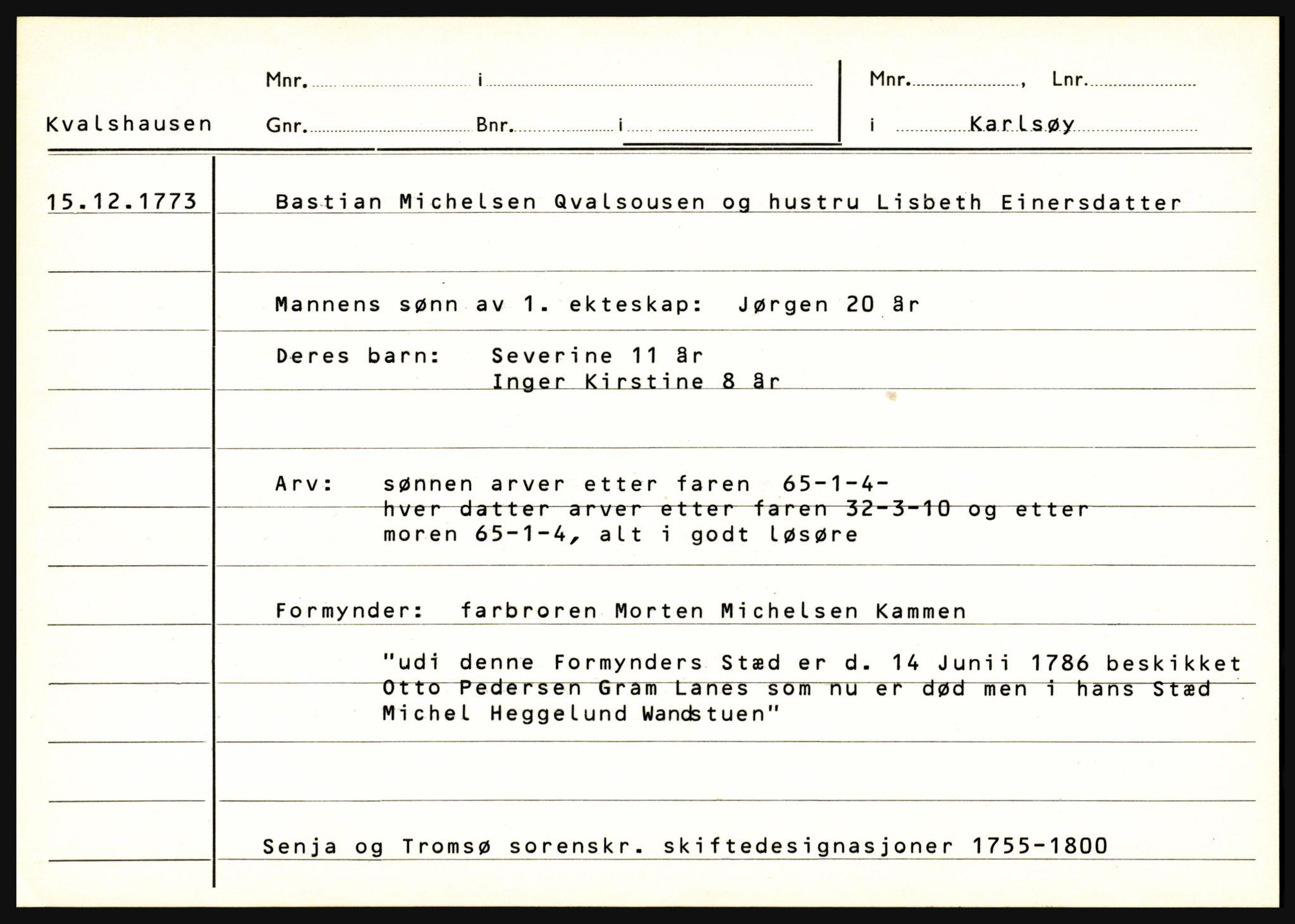 SATØ, Senja og Tromsø sorenskriveri , H, 1755-1800, p. 191