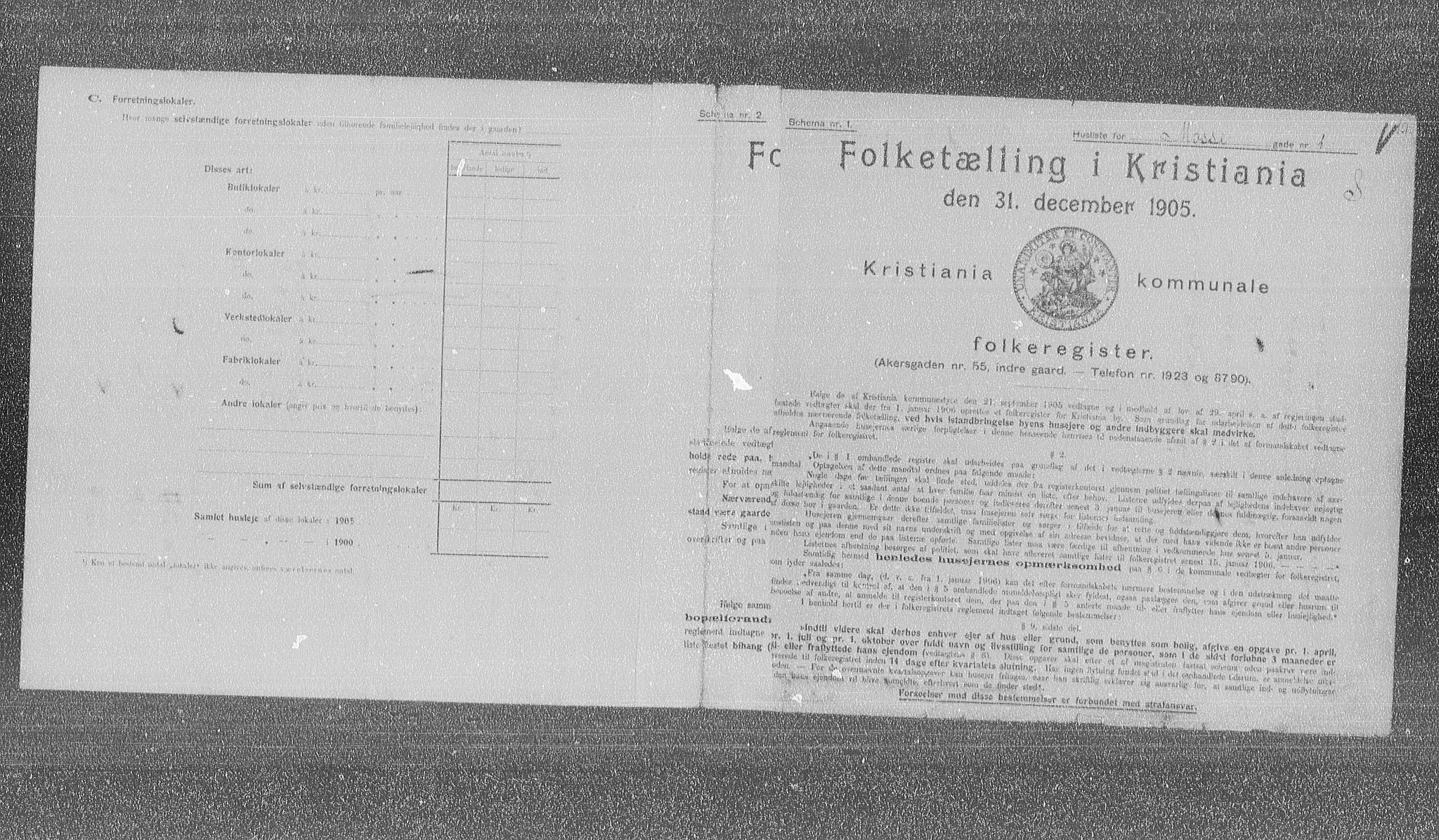 OBA, Municipal Census 1905 for Kristiania, 1905, p. 34487