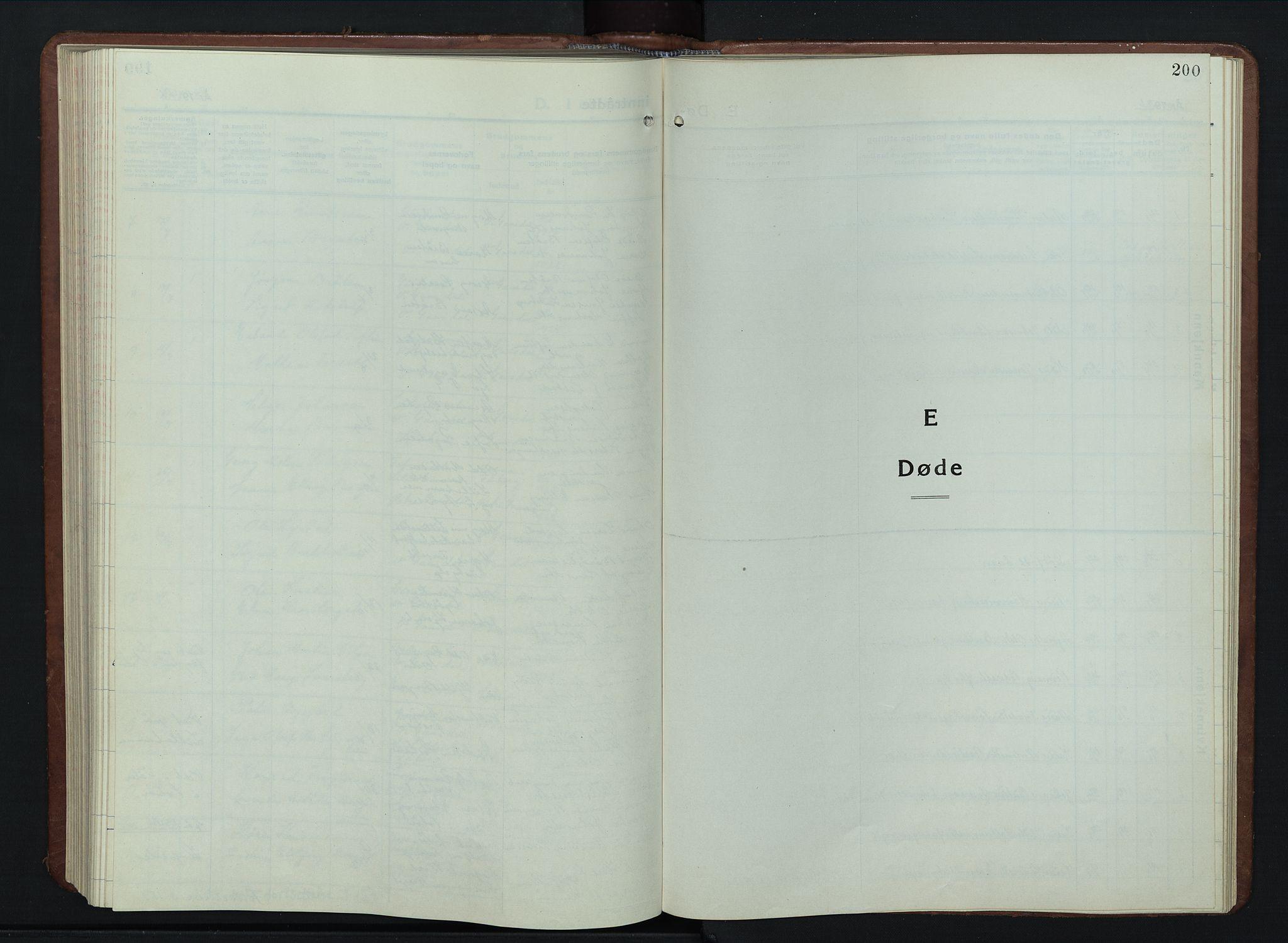 SAH, Vestre Gausdal prestekontor, Parish register (copy) no. 5, 1926-1955, p. 200