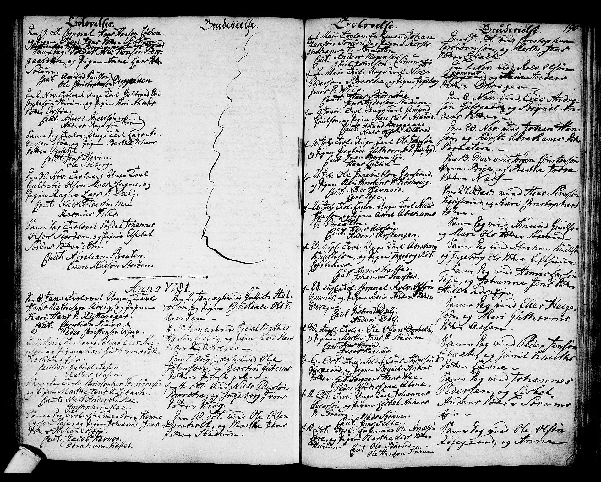 SAKO, Hole kirkebøker, F/Fa/L0002: Parish register (official) no. I 2, 1766-1814, p. 190