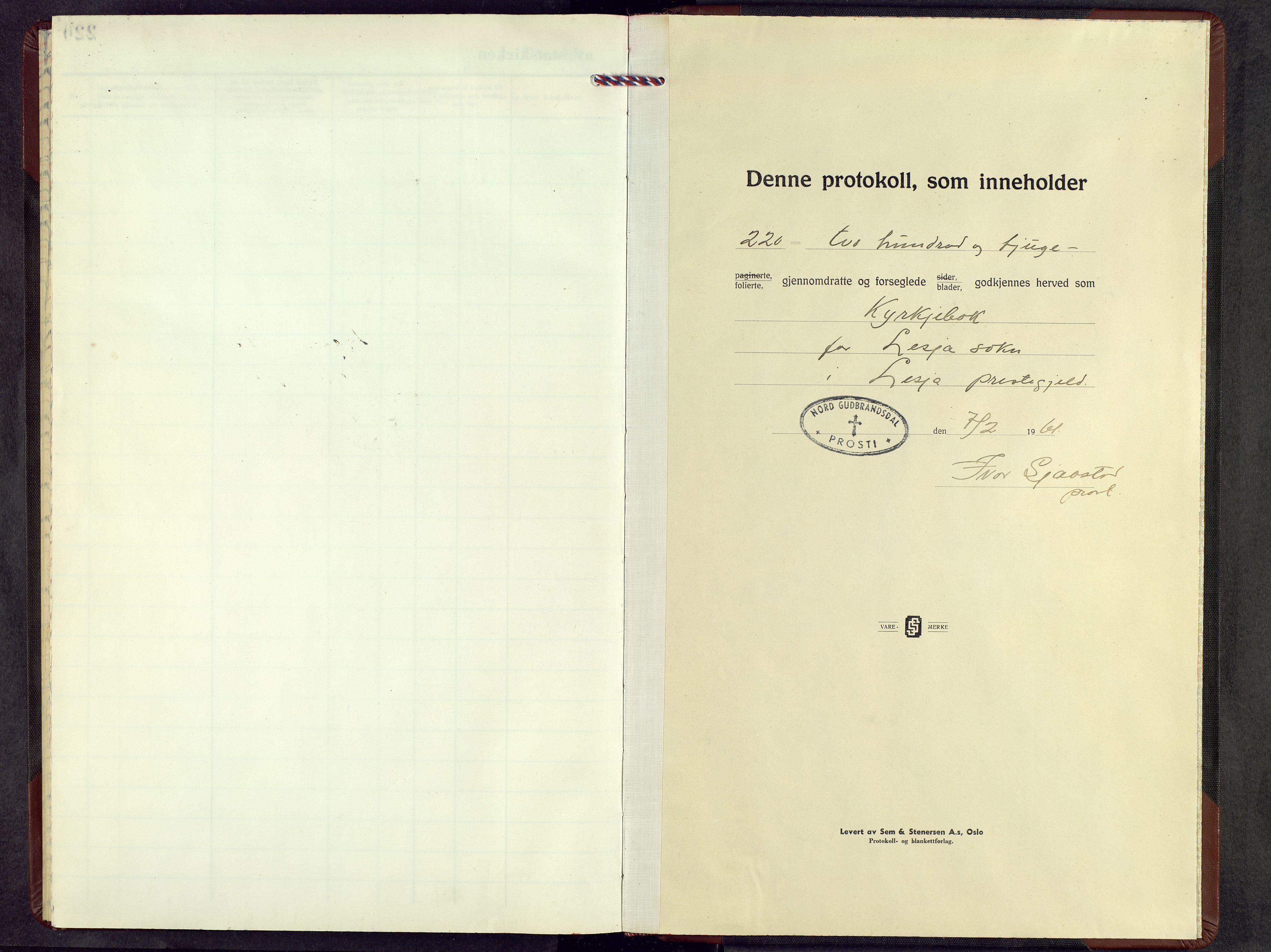 SAH, Lesja prestekontor, Parish register (copy) no. 12, 1961-1968