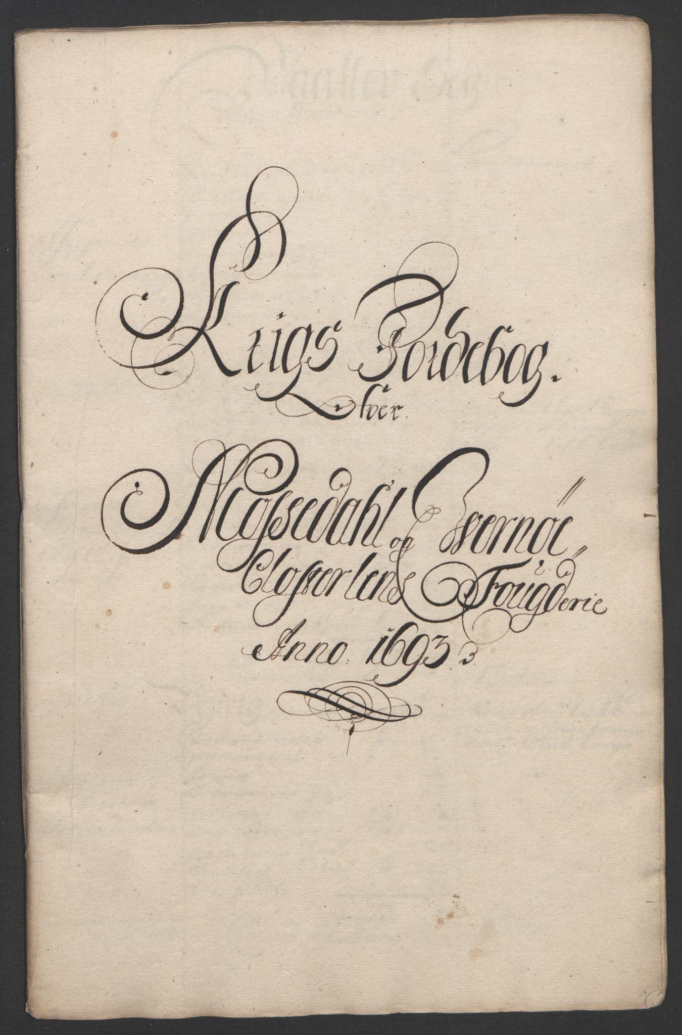 RA, Rentekammeret inntil 1814, Reviderte regnskaper, Fogderegnskap, R02/L0108: Fogderegnskap Moss og Verne kloster, 1692-1693, p. 347