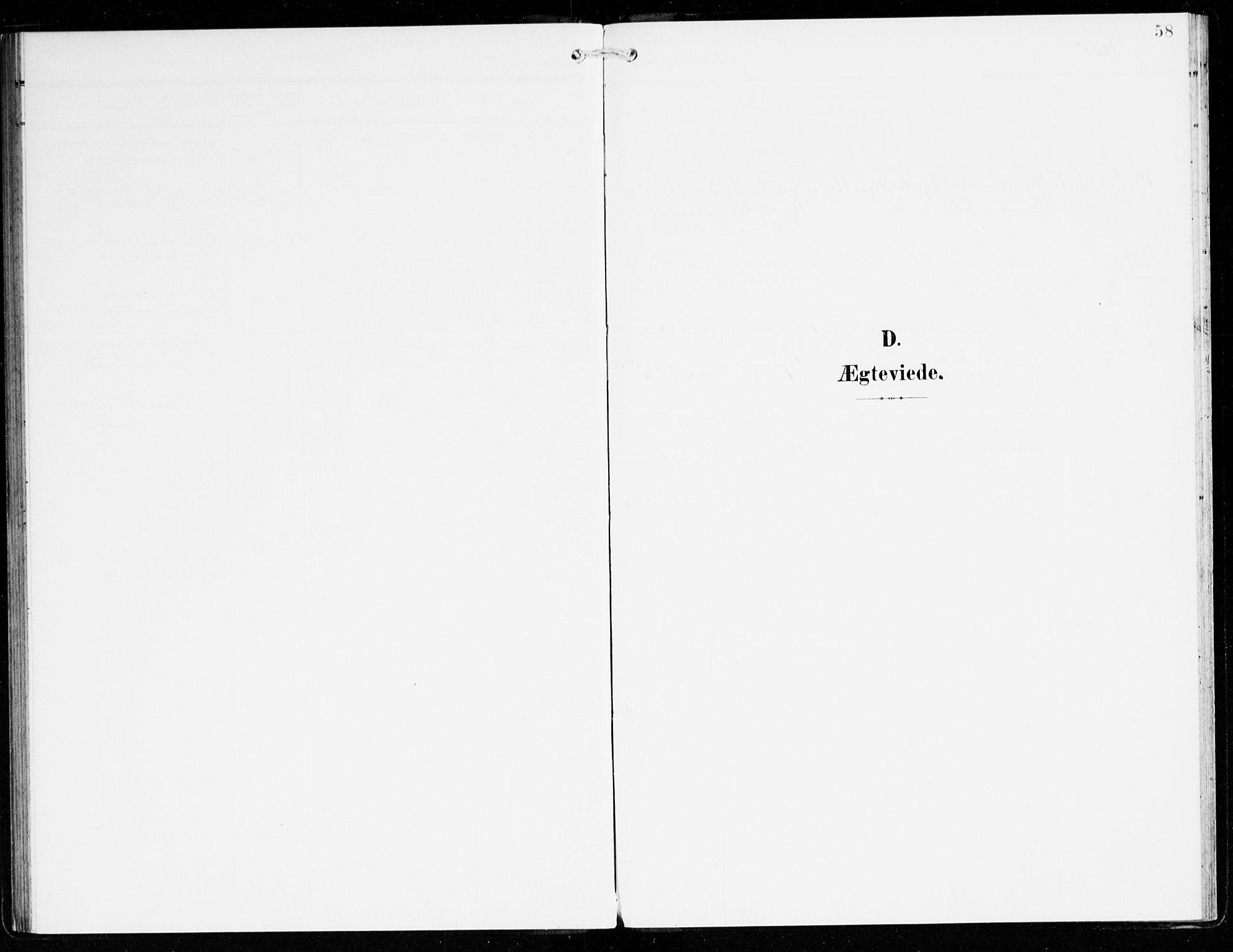 SAB, Hyllestad Sokneprestembete, Parish register (official) no. C 2, 1904-1917, p. 58
