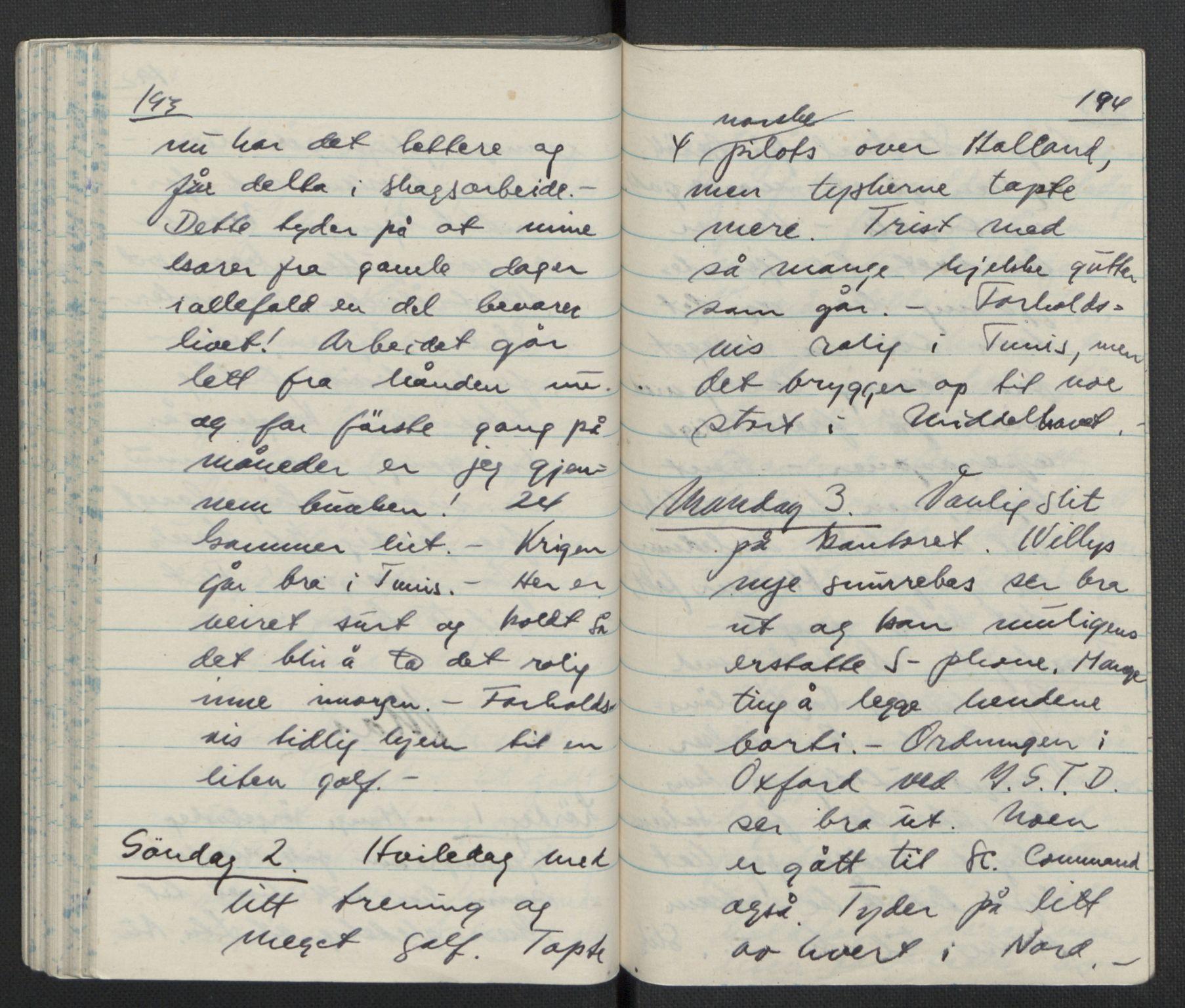 RA, Tronstad, Leif, F/L0001: Dagbøker, 1941-1945, p. 449
