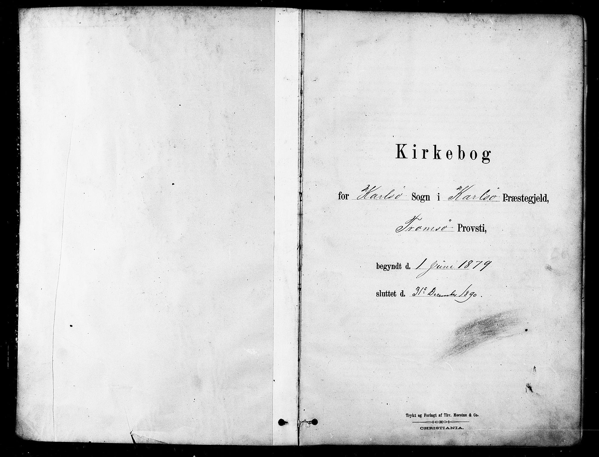 SATØ, Karlsøy sokneprestembete, H/Ha/Haa/L0006kirke: Parish register (official) no. 6, 1879-1890