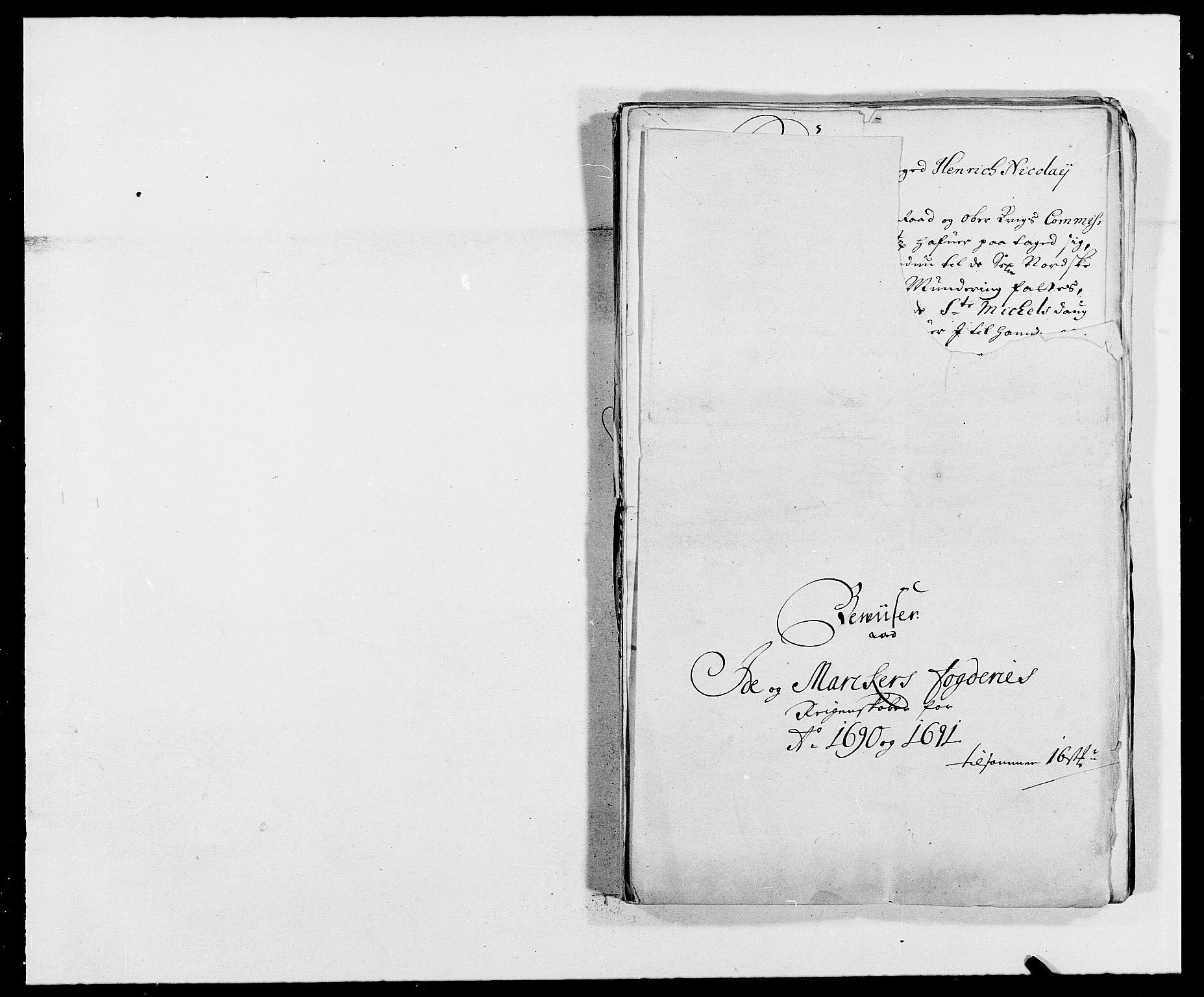 RA, Rentekammeret inntil 1814, Reviderte regnskaper, Fogderegnskap, R01/L0010: Fogderegnskap Idd og Marker, 1690-1691, p. 42