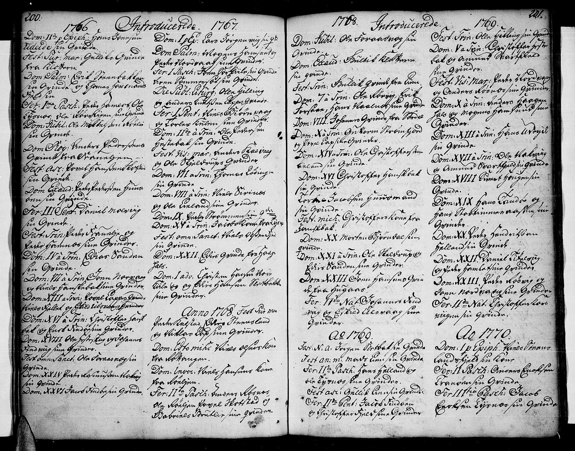 SAT, Ministerialprotokoller, klokkerbøker og fødselsregistre - Nordland, 859/L0841: Parish register (official) no. 859A01, 1766-1821, p. 200-201