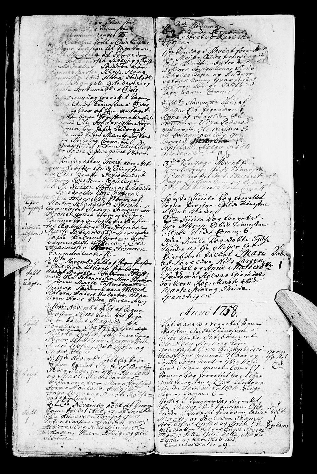 SAB, Os sokneprestembete*, Parish register (official) no. A 2, 1723-1758, p. 126