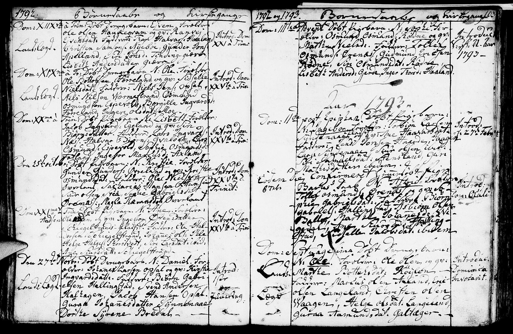 SAST, Vikedal sokneprestkontor, IV: Parish register (official) no. A 2, 1779-1817, p. 103
