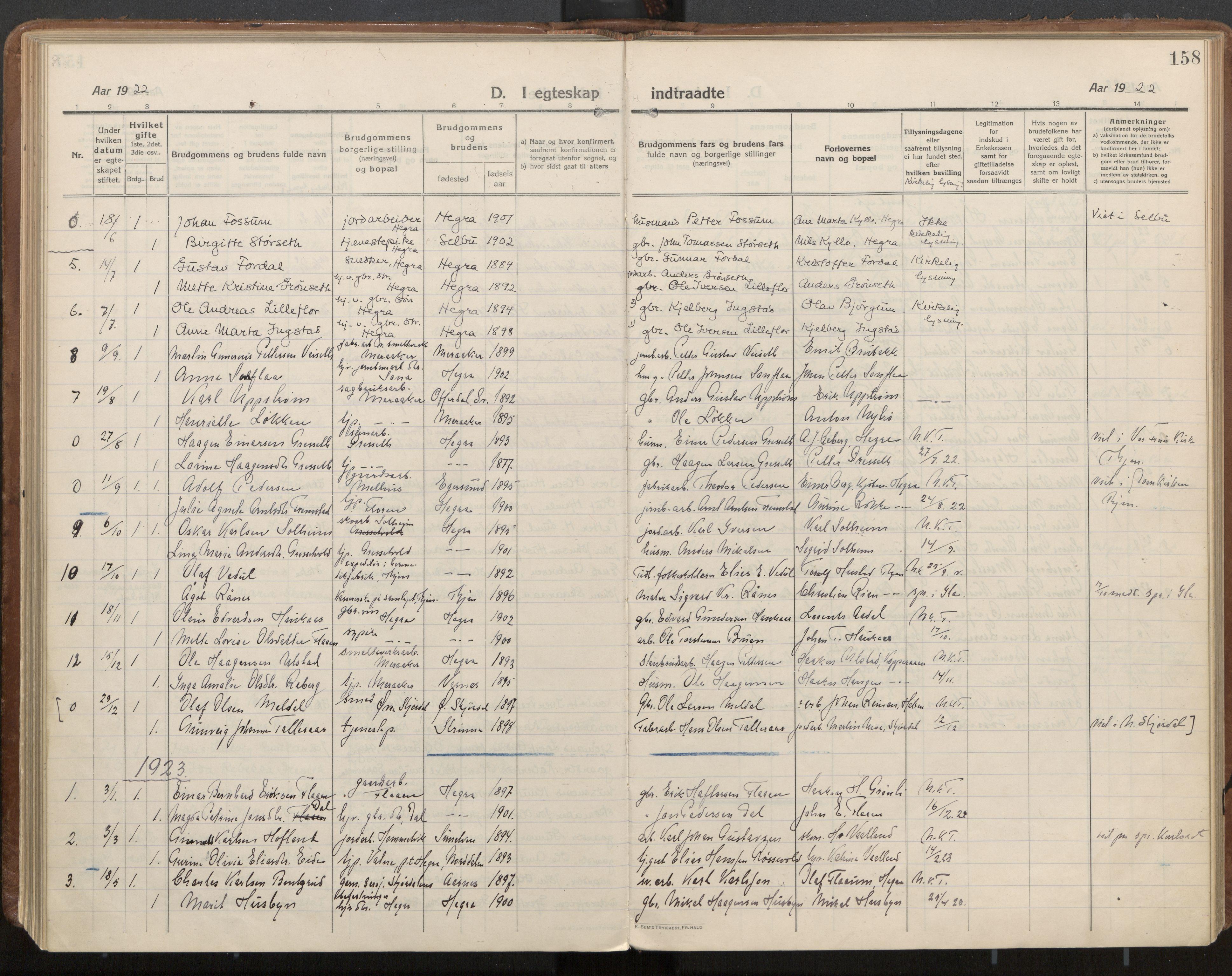 SAT, Ministerialprotokoller, klokkerbøker og fødselsregistre - Nord-Trøndelag, 703/L0037: Parish register (official) no. 703A10, 1915-1932, p. 158