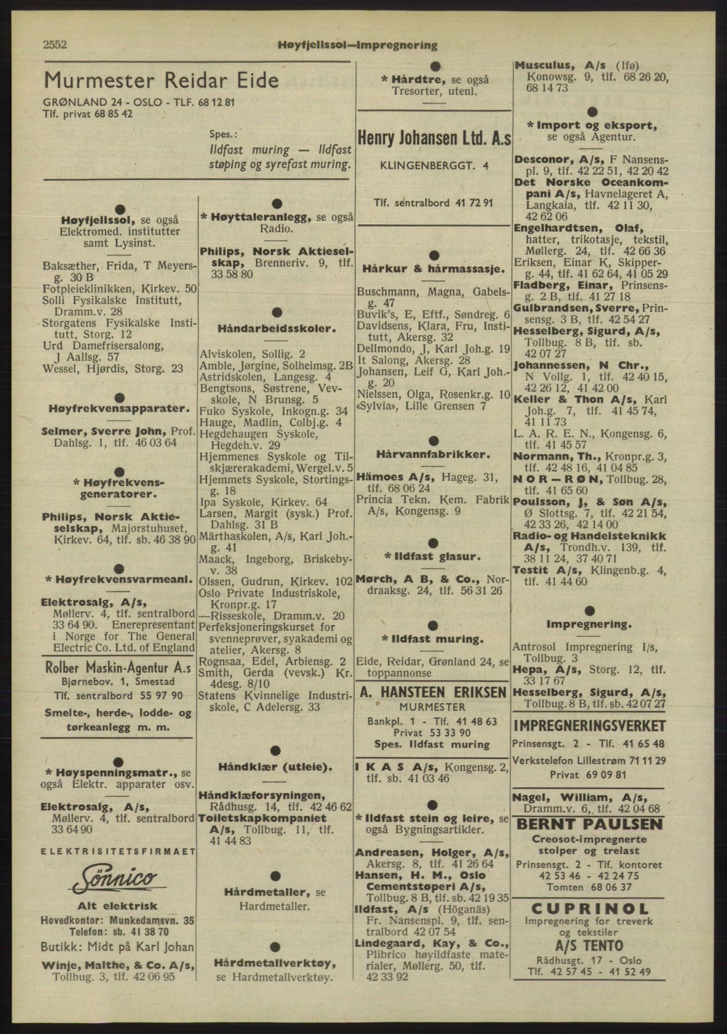 PUBL, Kristiania/Oslo adressebok, 1955, p. 2552