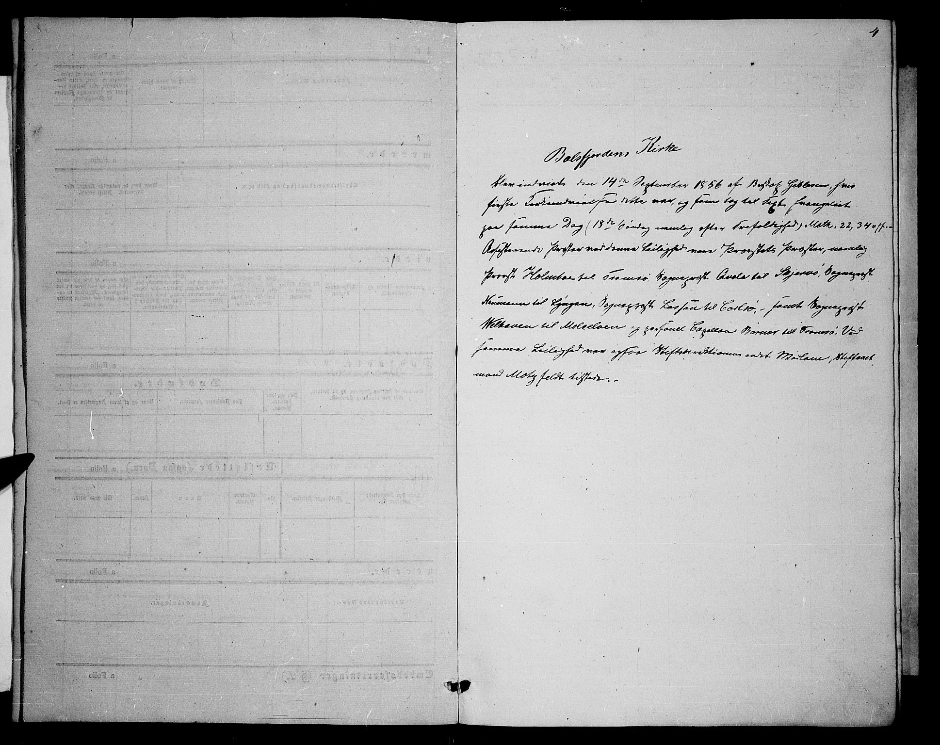 SATØ, Balsfjord sokneprestembete, Parish register (copy) no. 5, 1856-1862, p. 4