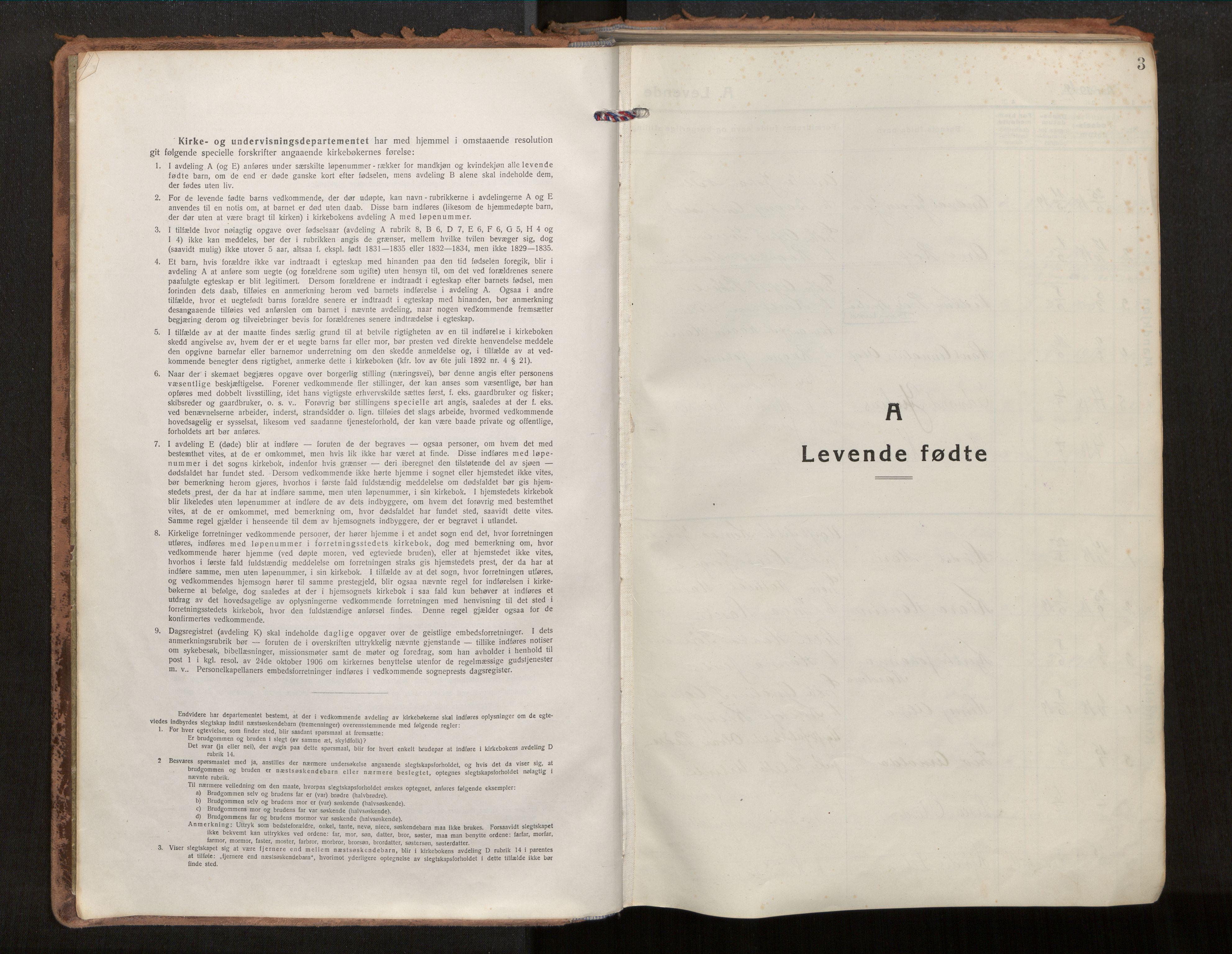 SAT, Ministerialprotokoller, klokkerbøker og fødselsregistre - Nordland, 880/L1136: Parish register (official) no. 880A10, 1919-1927, p. 3