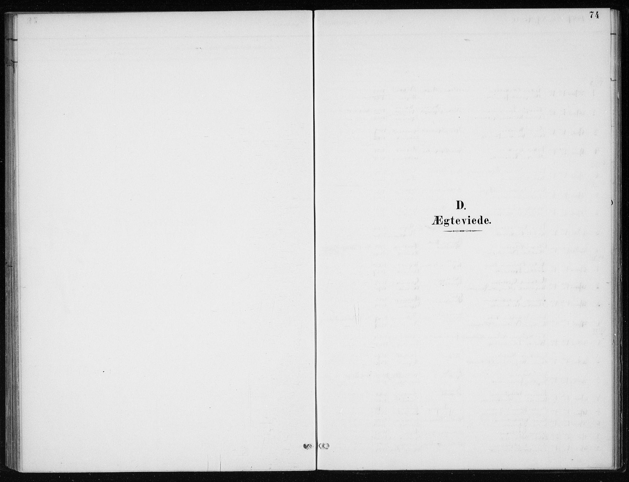 SAB, Kvinnherad Sokneprestembete, H/Haa: Parish register (official) no. F 1, 1887-1912, p. 74