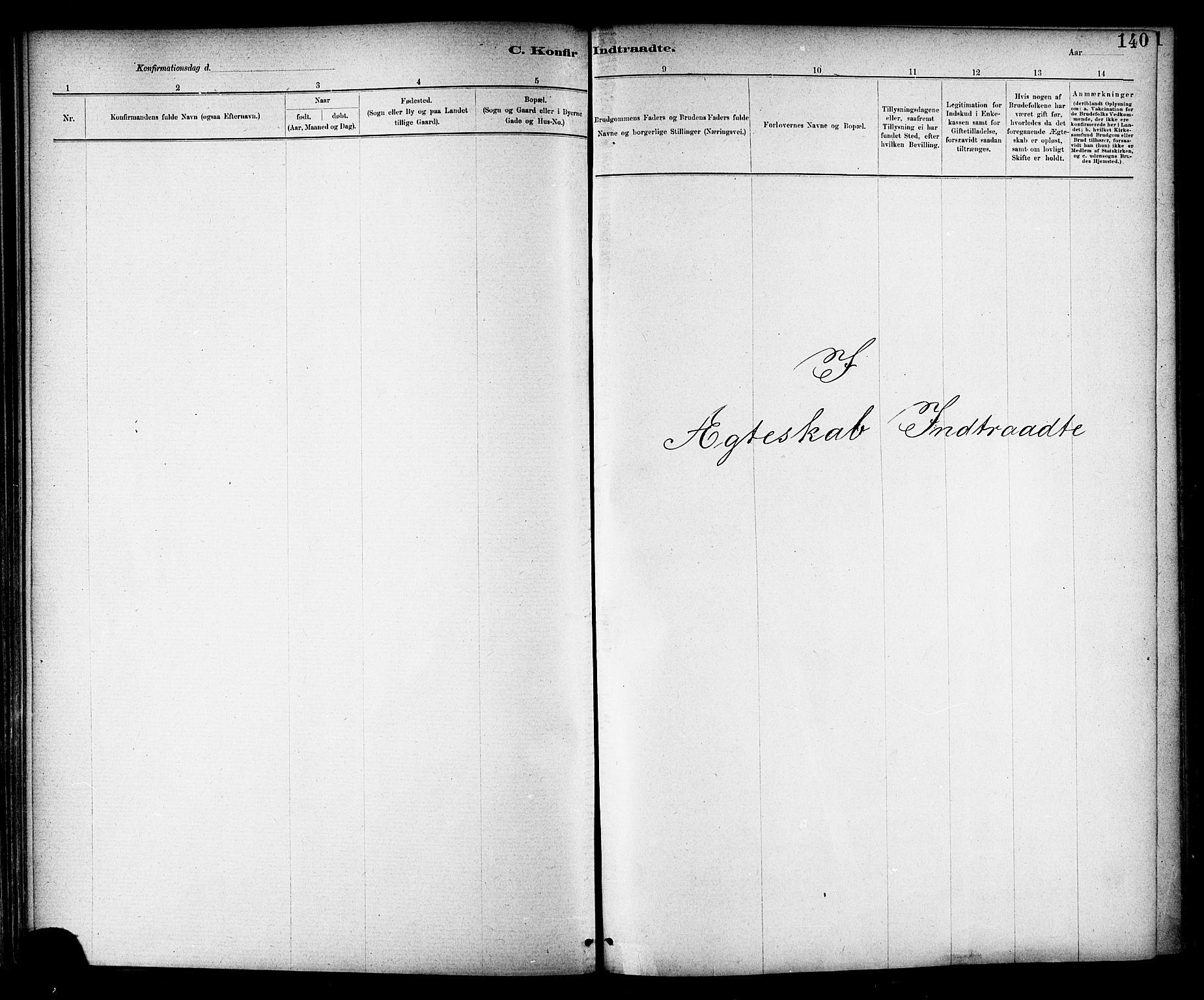 SAT, Ministerialprotokoller, klokkerbøker og fødselsregistre - Nord-Trøndelag, 703/L0030: Parish register (official) no. 703A03, 1880-1892, p. 140