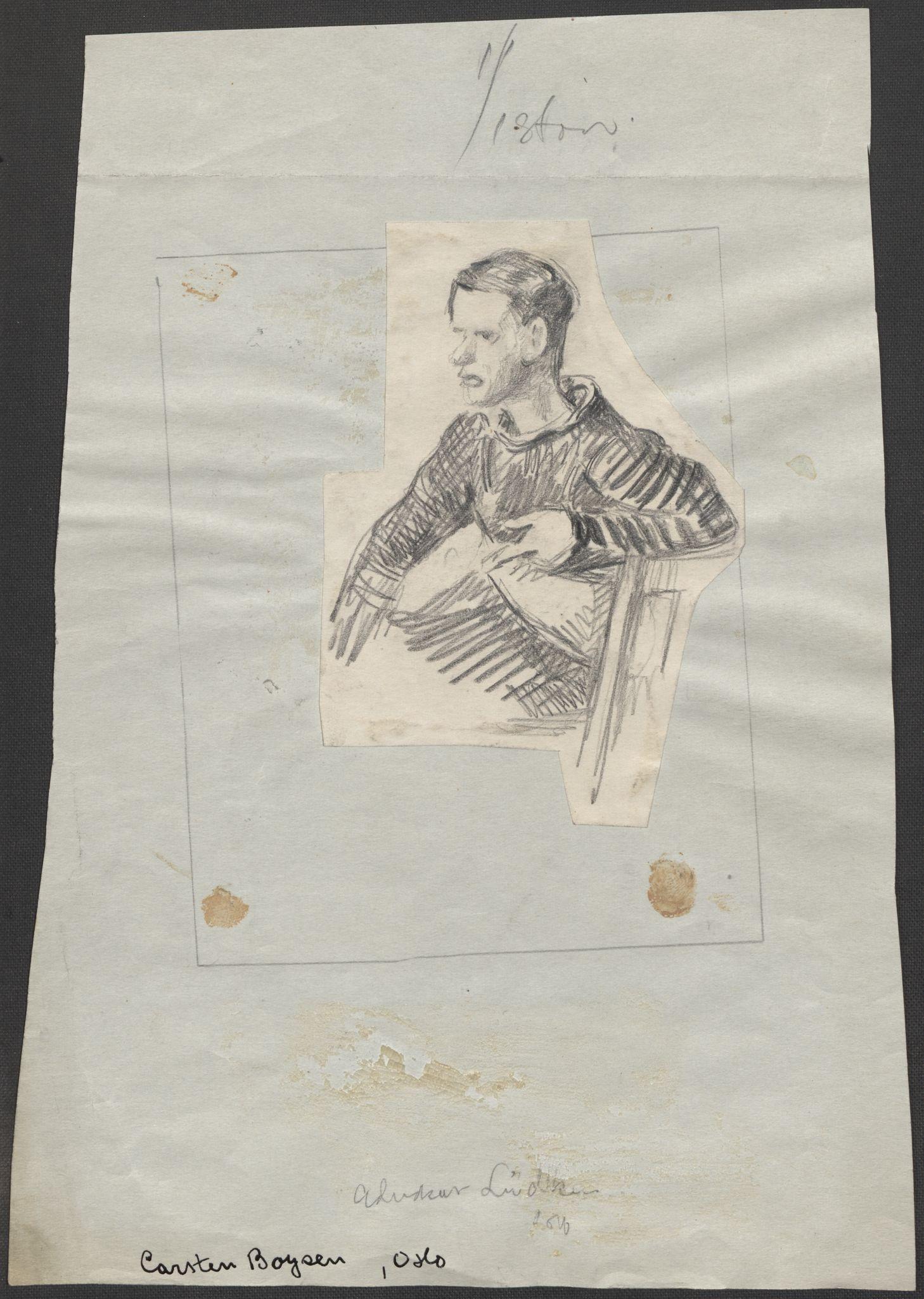 RA, Grøgaard, Joachim, F/L0002: Tegninger og tekster, 1942-1945, p. 93