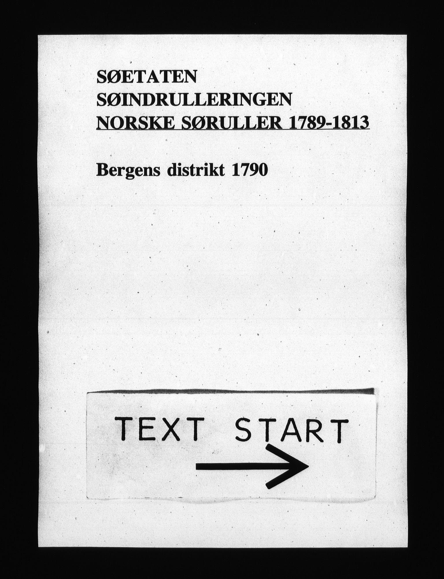 RA, Sjøetaten, F/L0216: Bergen distrikt, bind 1, 1790