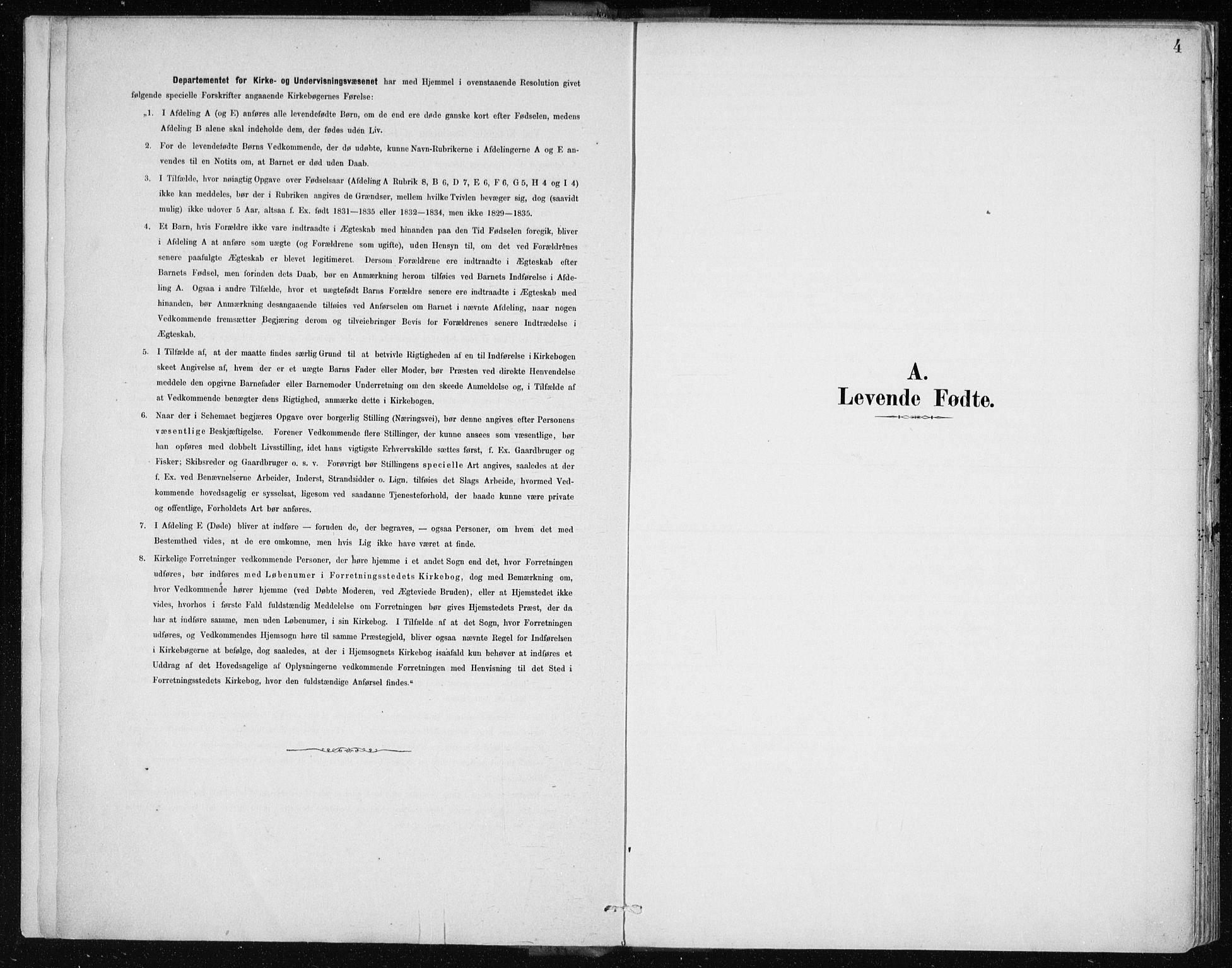 SAB, Arkivreferanse mangler*, Parish register (official) no. A 2, 1887-1939, p. 4