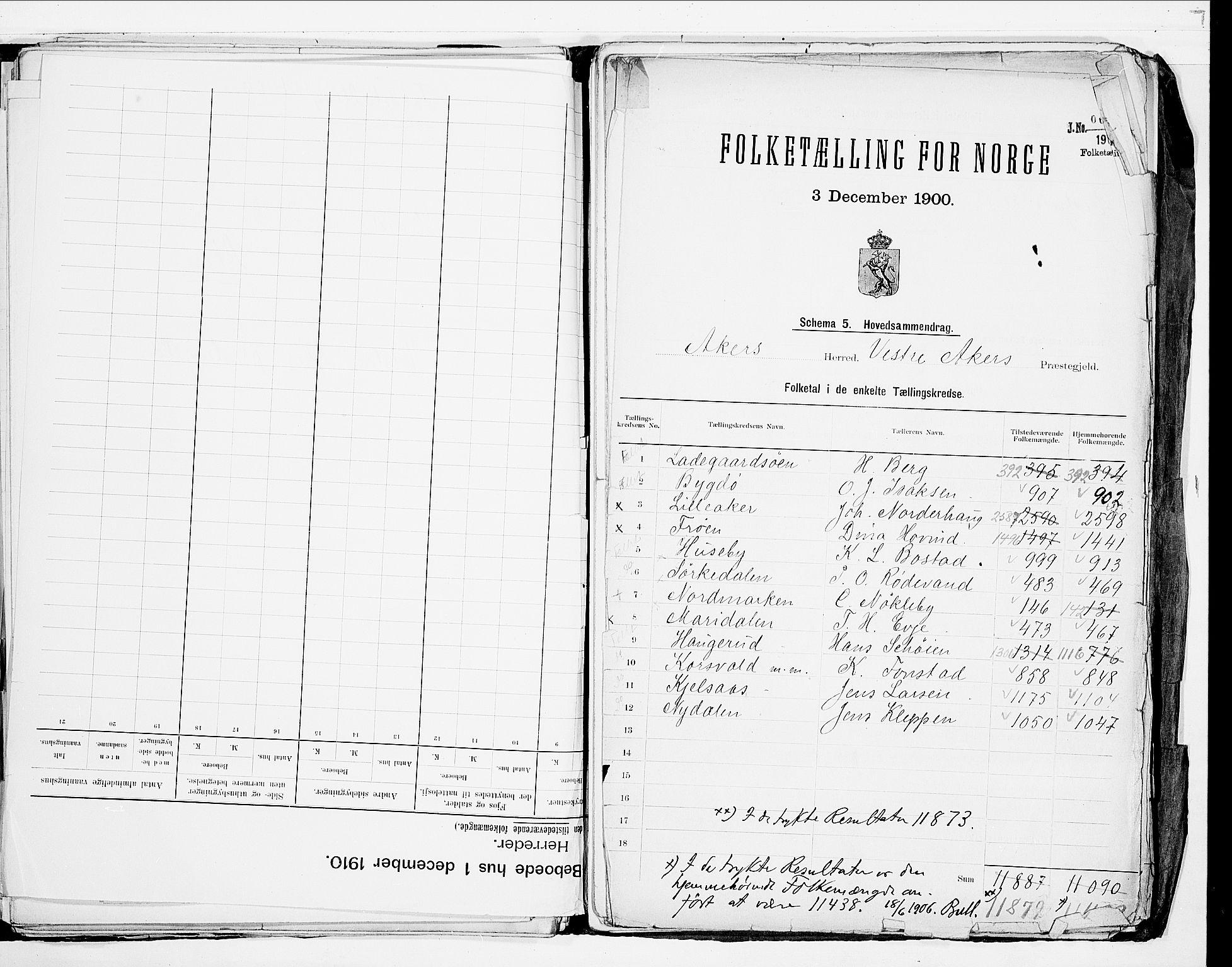 SAO, 1900 census for Aker, 1900, p. 38