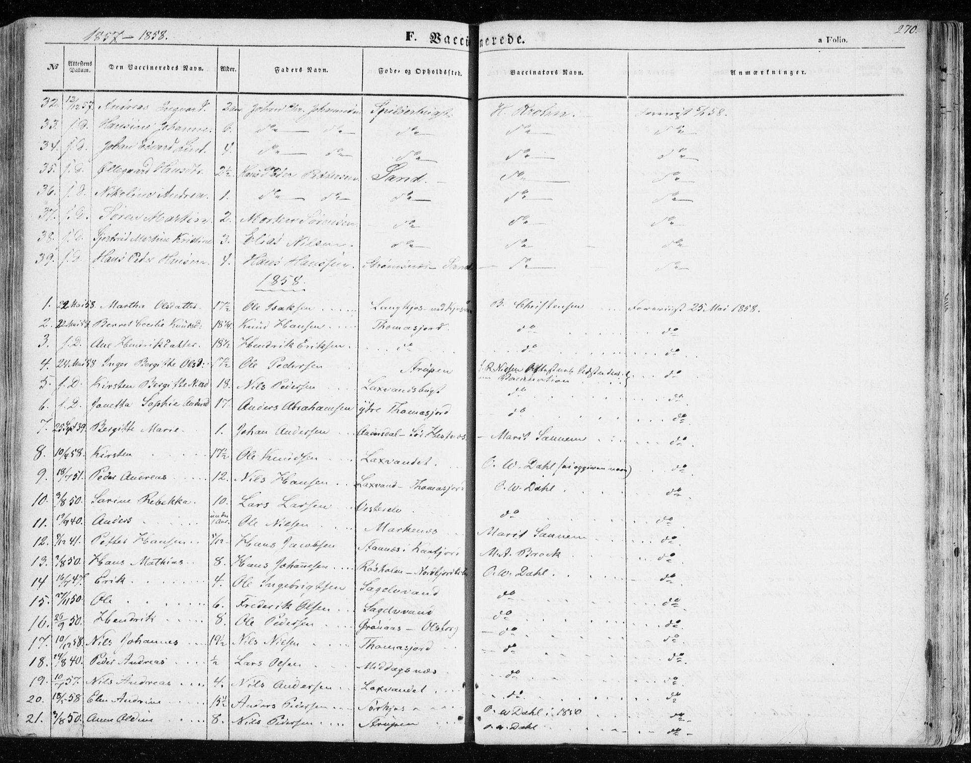SATØ, Balsfjord sokneprestembete, Parish register (official) no. 3, 1856-1870, p. 270