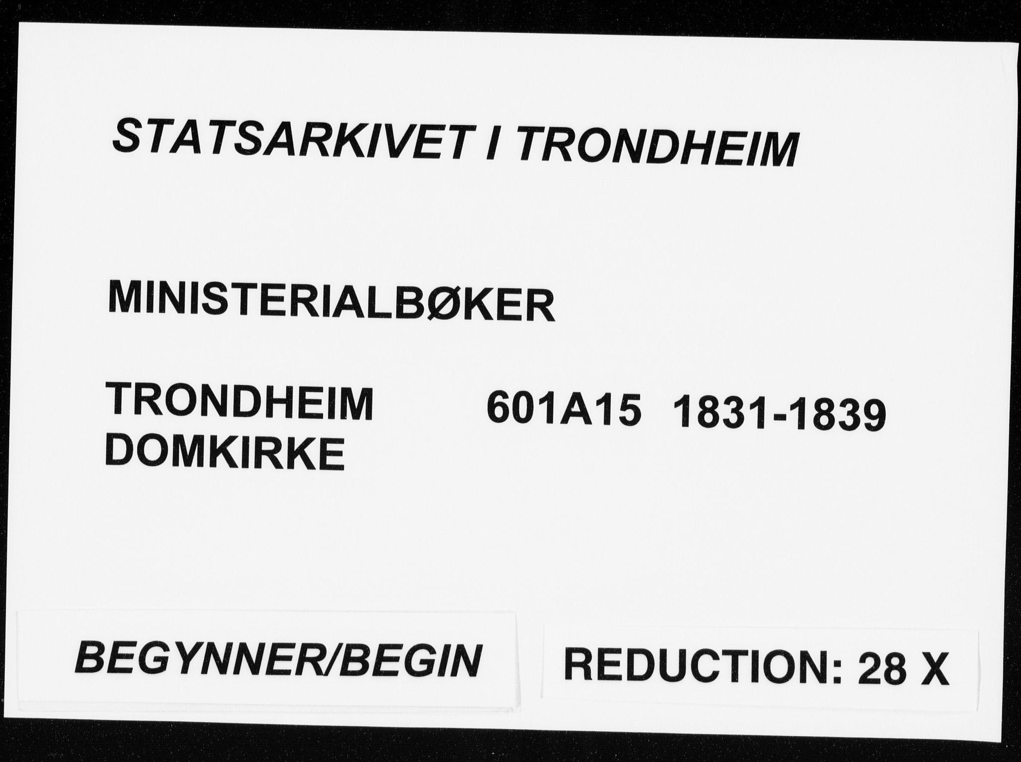 SAT, Ministerialprotokoller, klokkerbøker og fødselsregistre - Sør-Trøndelag, 601/L0047: Parish register (official) no. 601A15, 1831-1839