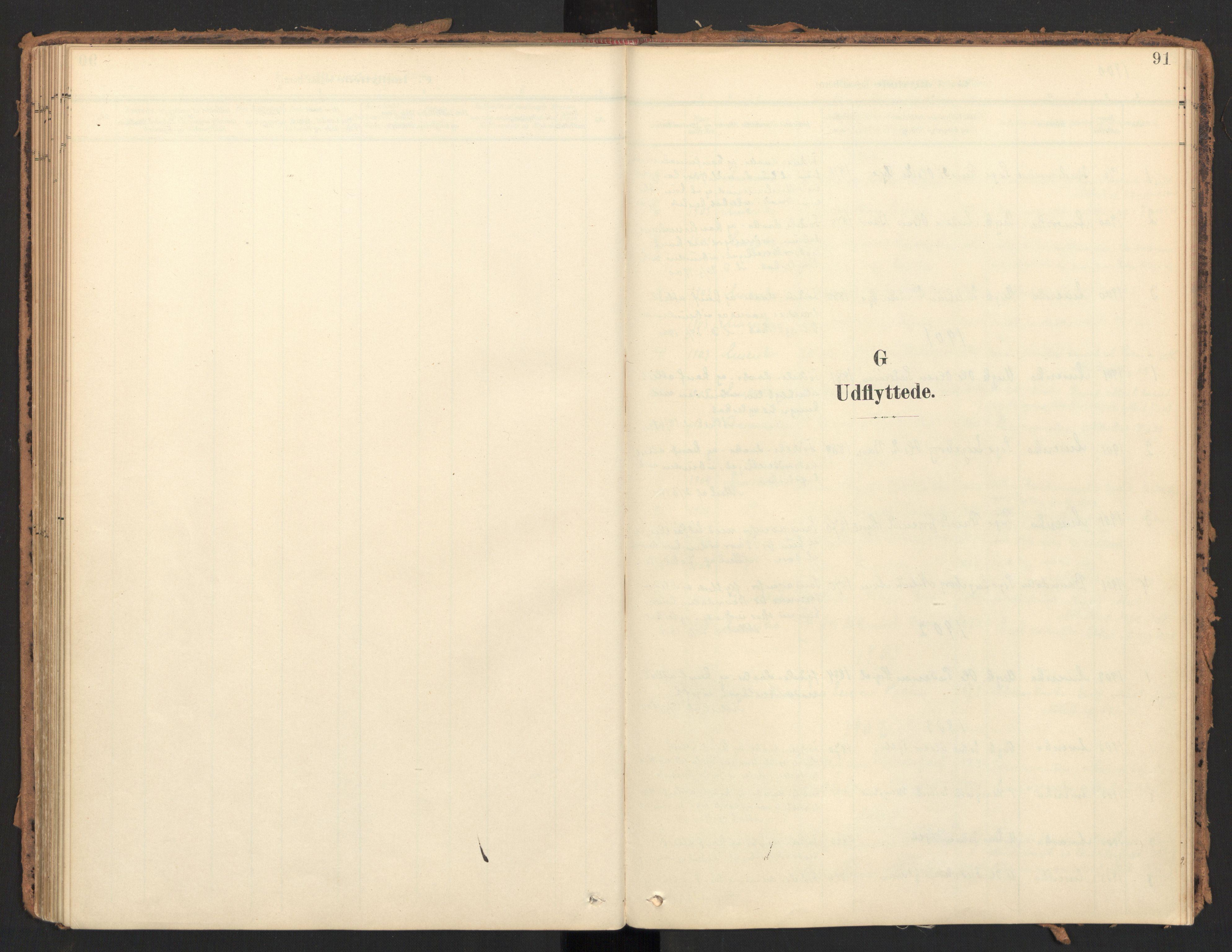 SAT, Ministerialprotokoller, klokkerbøker og fødselsregistre - Møre og Romsdal, 595/L1048: Parish register (official) no. 595A10, 1900-1917, p. 91
