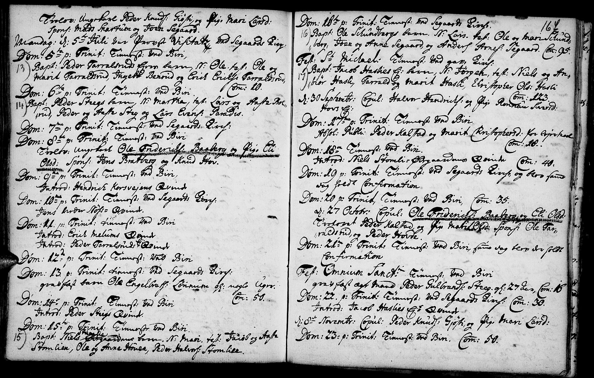 SAH, Biri prestekontor, Parish register (official) no. 1, 1730-1754, p. 167