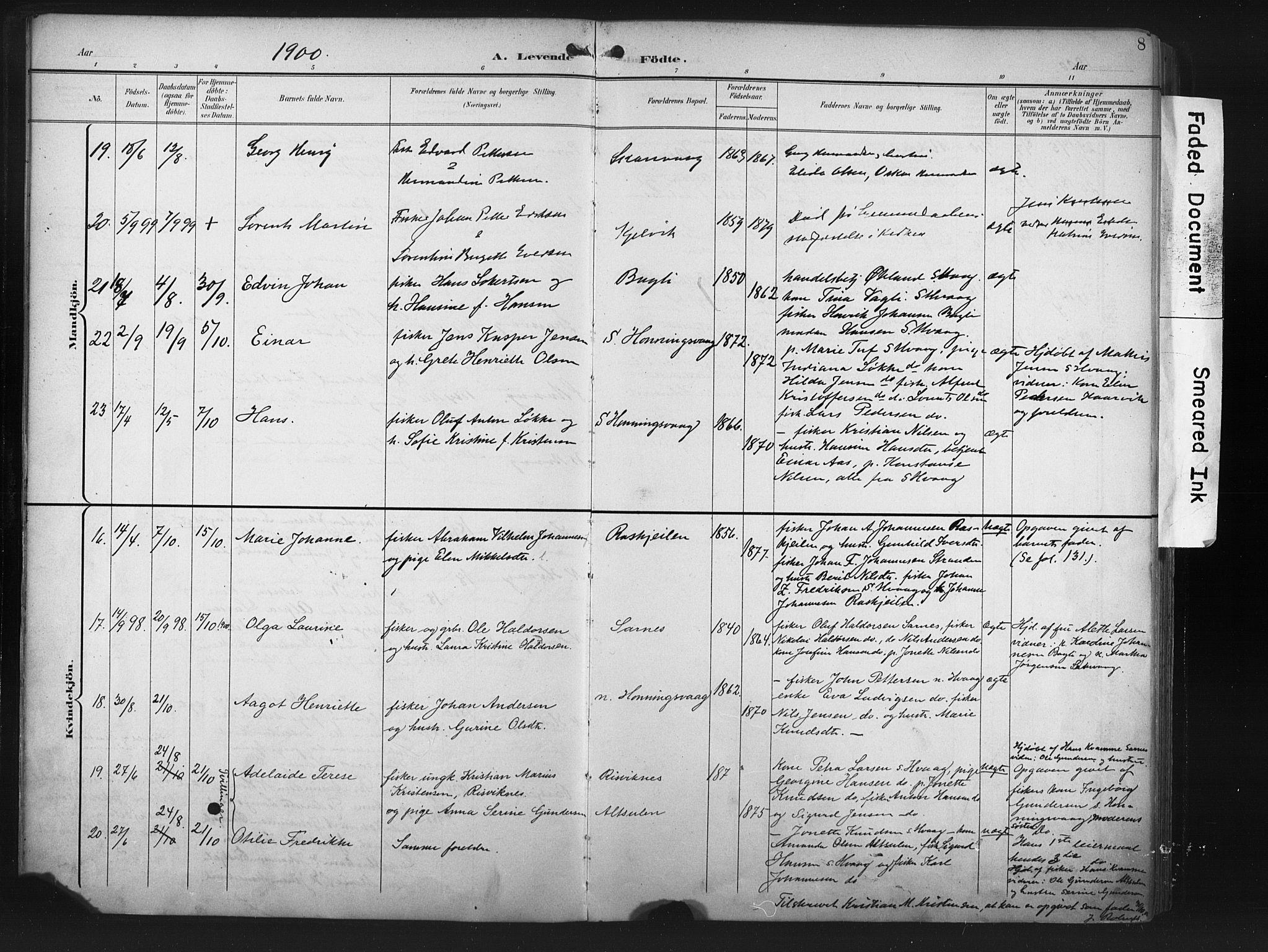 SATØ, Måsøy sokneprestkontor, H/Ha/L0008kirke: Parish register (official) no. 8, 1900-1910, p. 8