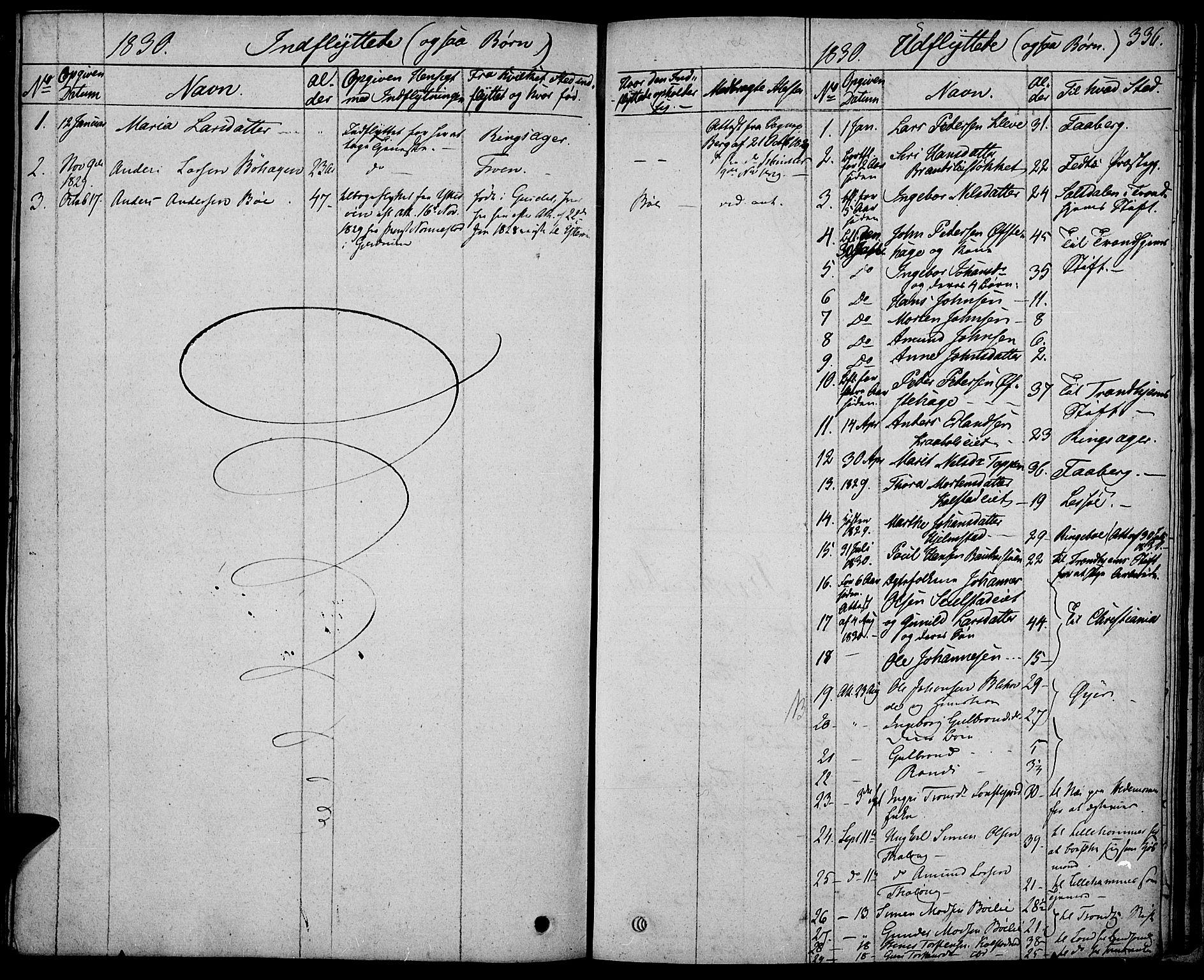 SAH, Gausdal prestekontor, Parish register (official) no. 6, 1830-1839, p. 336
