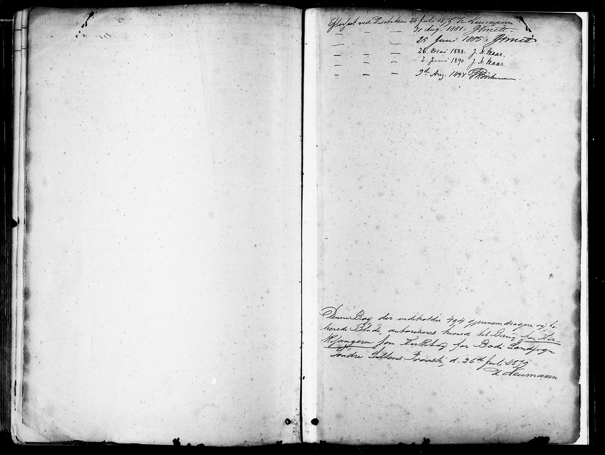 SAT, Ministerialprotokoller, klokkerbøker og fødselsregistre - Nordland, 802/L0054: Parish register (official) no. 802A01, 1879-1893