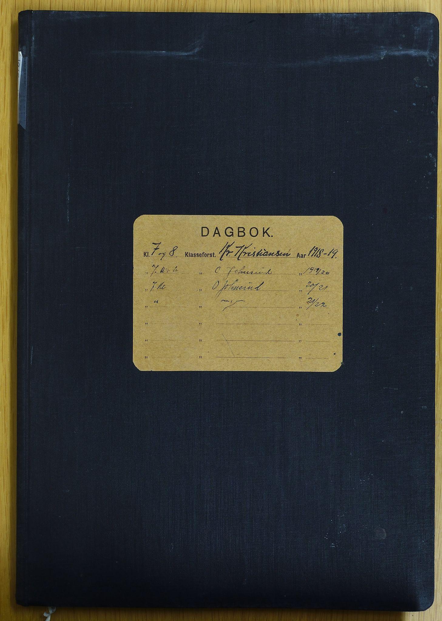 KVT, Vestre Toten municipality archive: School protocol, Raufoss School 1918-1925, 1918-1925