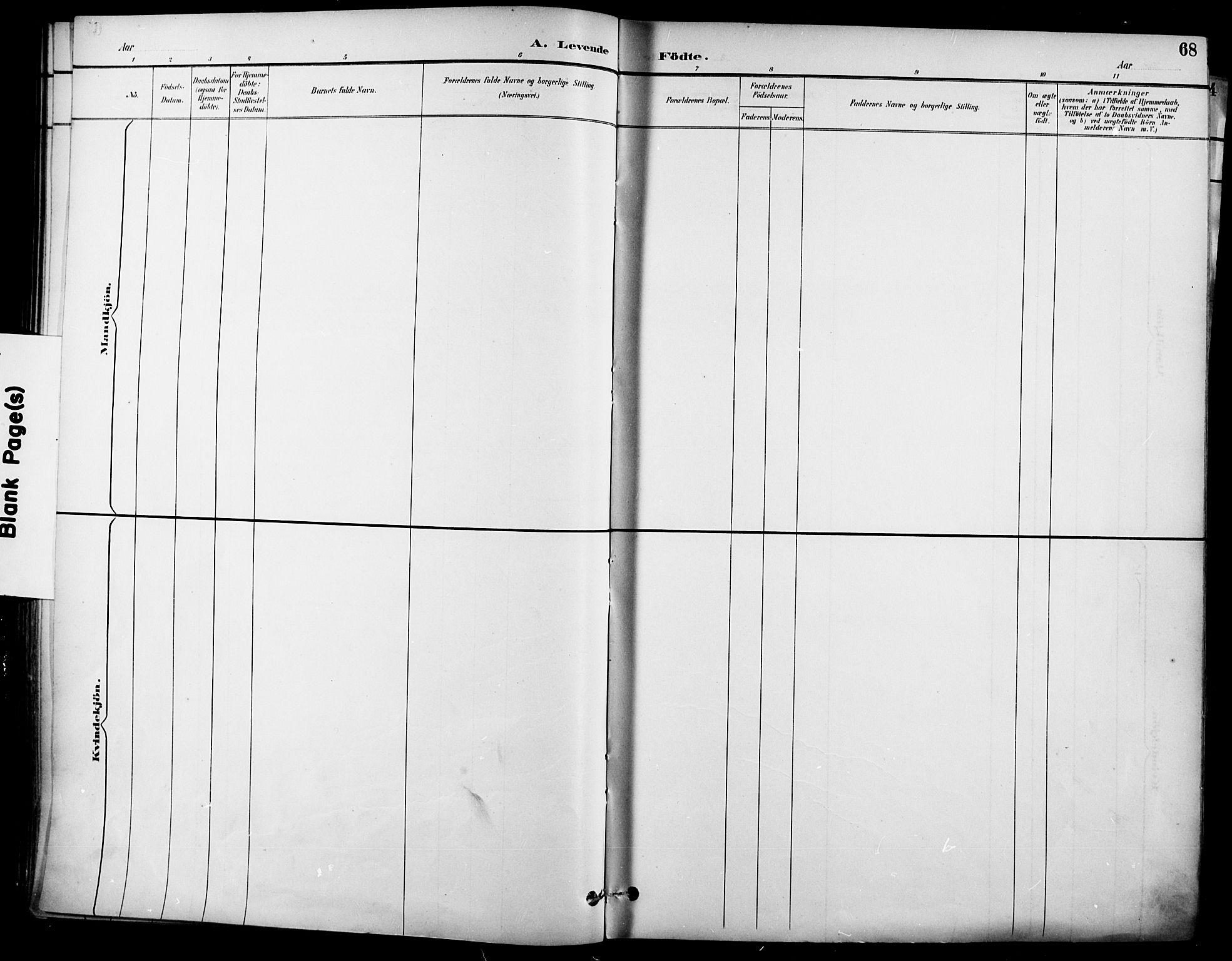 SAO, Garnisonsmenigheten Kirkebøker, F/Fa/L0013: Parish register (official) no. 13, 1894-1904, p. 68