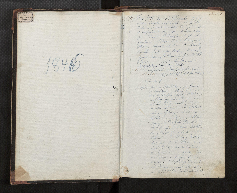 SAT, Norges Brannkasse Trondheim magistrat, Fa/L0025: Branntakstprotokoll F, 1846-1847, p. 1a