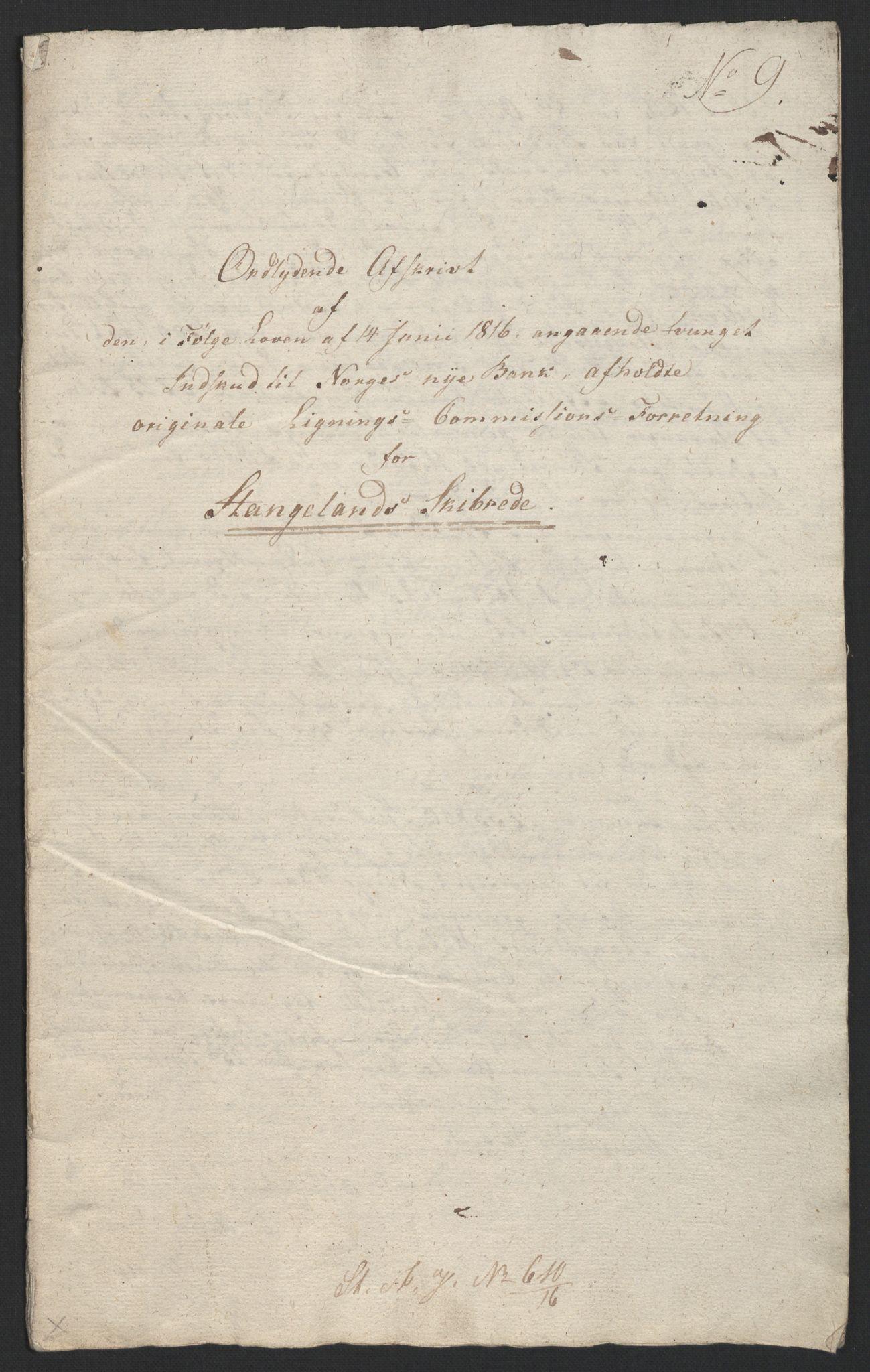 NOBA, Norges Bank/Sølvskatten 1816*, 1816, p. 45