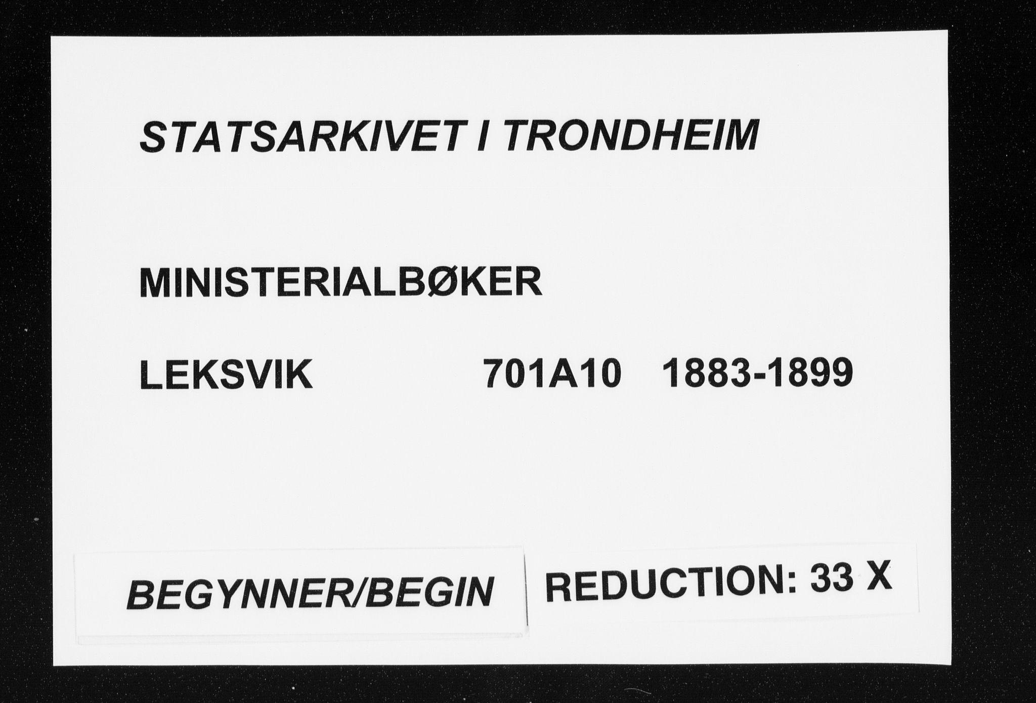 SAT, Ministerialprotokoller, klokkerbøker og fødselsregistre - Nord-Trøndelag, 701/L0010: Parish register (official) no. 701A10, 1883-1899