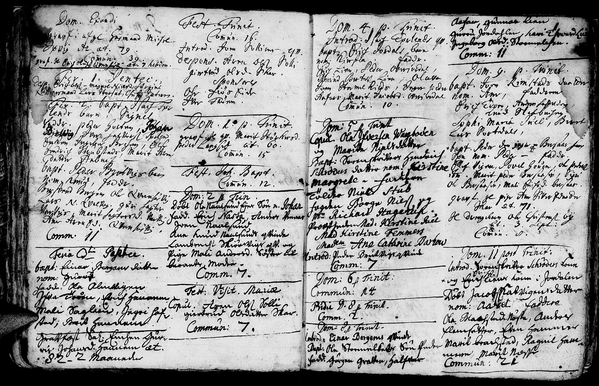 SAT, Ministerialprotokoller, klokkerbøker og fødselsregistre - Møre og Romsdal, 586/L0977: Parish register (official) no. 586A03, 1706-1731
