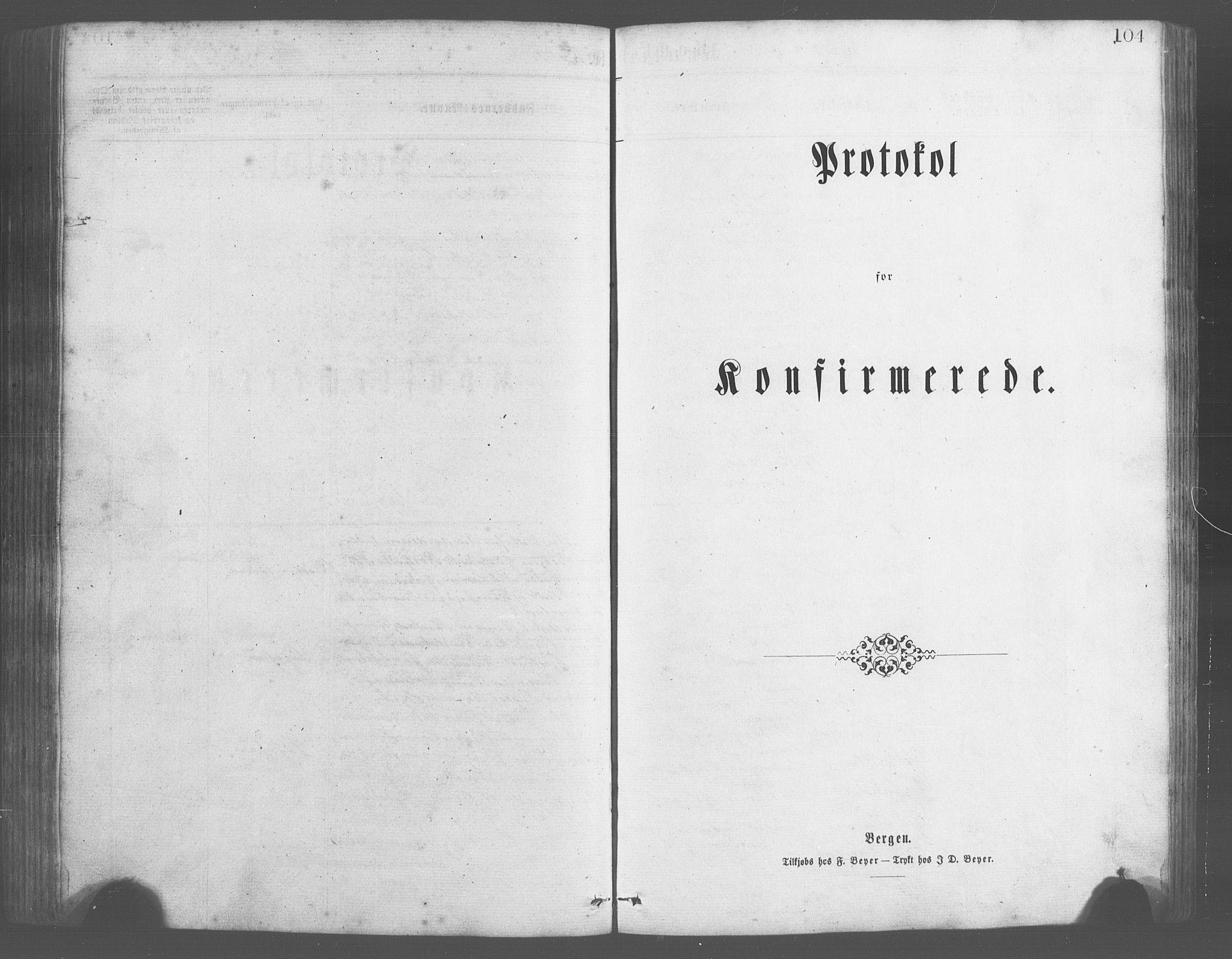 SAB, Evanger sokneprestembete*, Parish register (copy) no. A 2, 1863-1879, p. 104