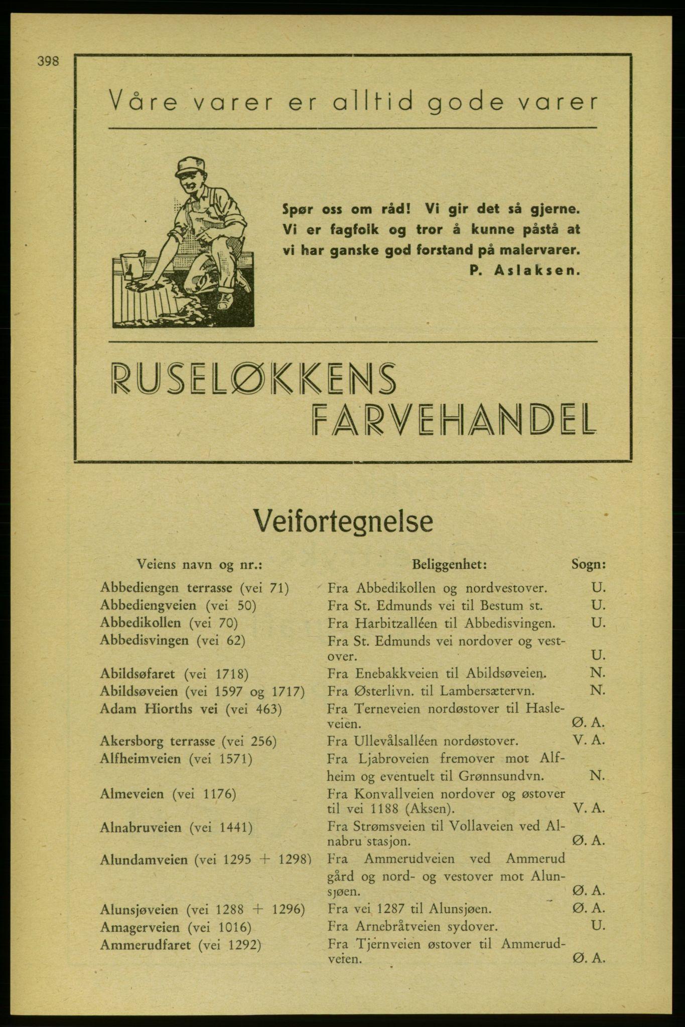 RA, Aker adressebok/adressekalender (publikasjon)*, 1937-1938, p. 398