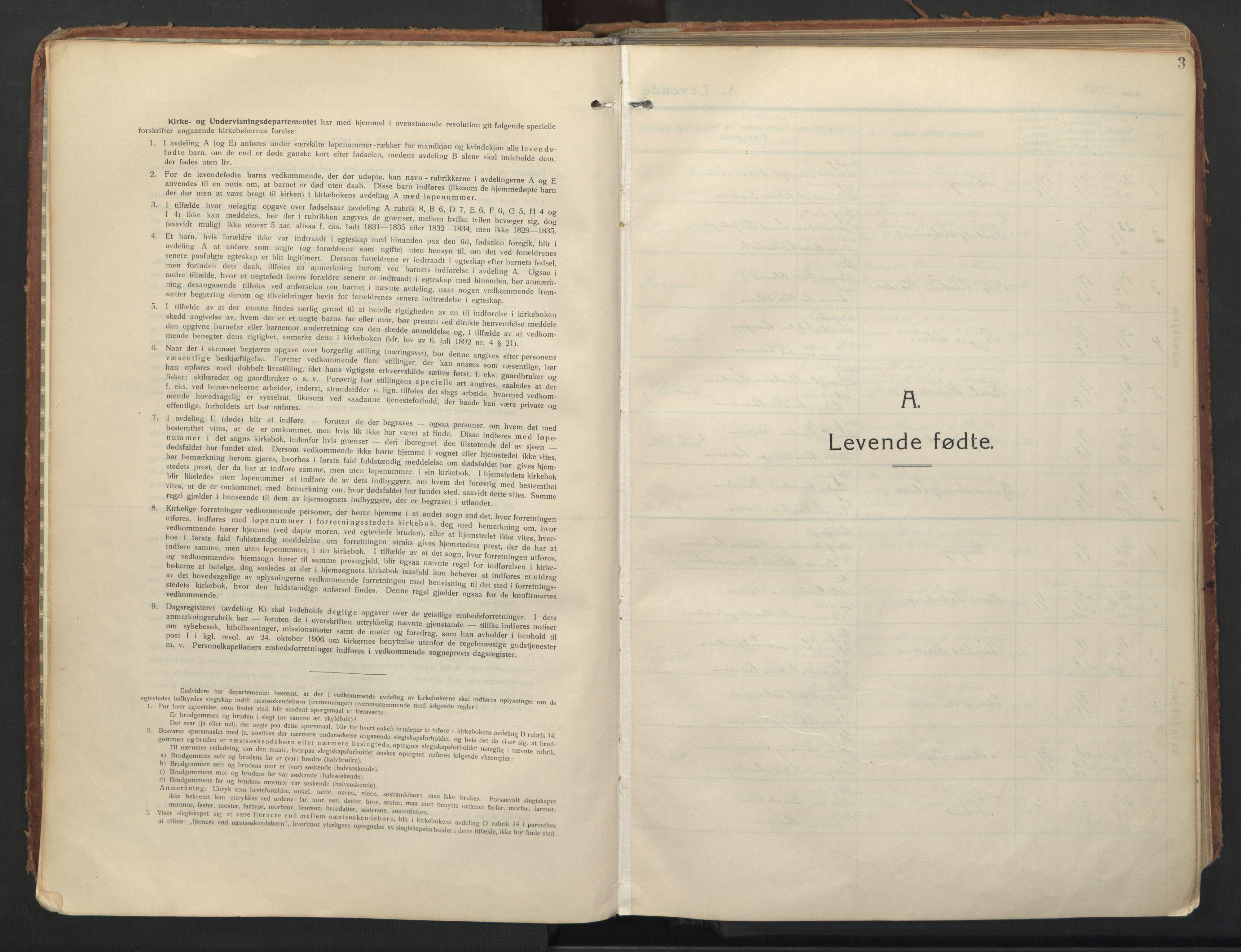 SATØ, Balsfjord sokneprestembete, Parish register (official) no. 8, 1910-1927, p. 3