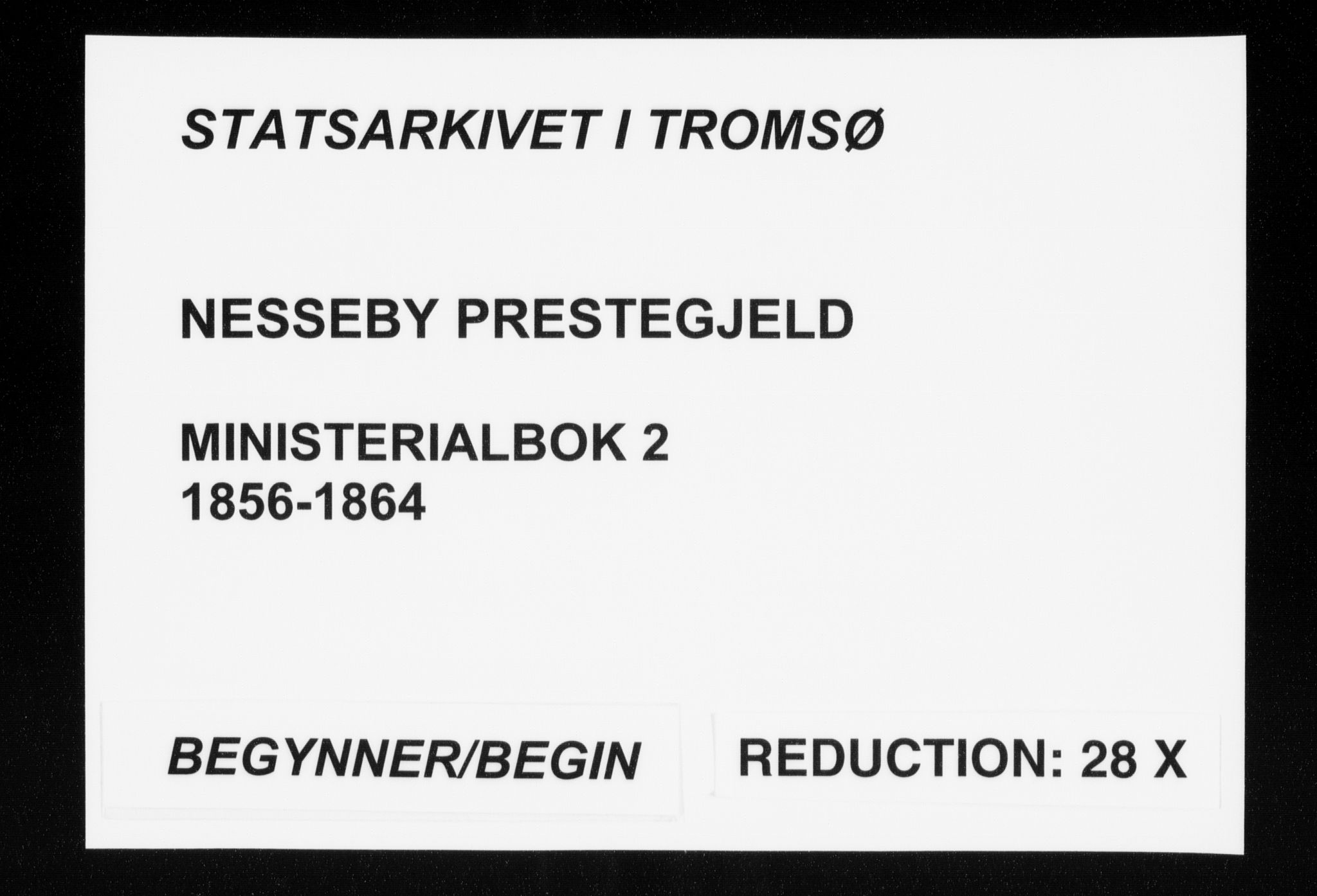 SATØ, Nesseby sokneprestkontor, H/Ha/L0002kirke: Parish register (official) no. 2, 1856-1864