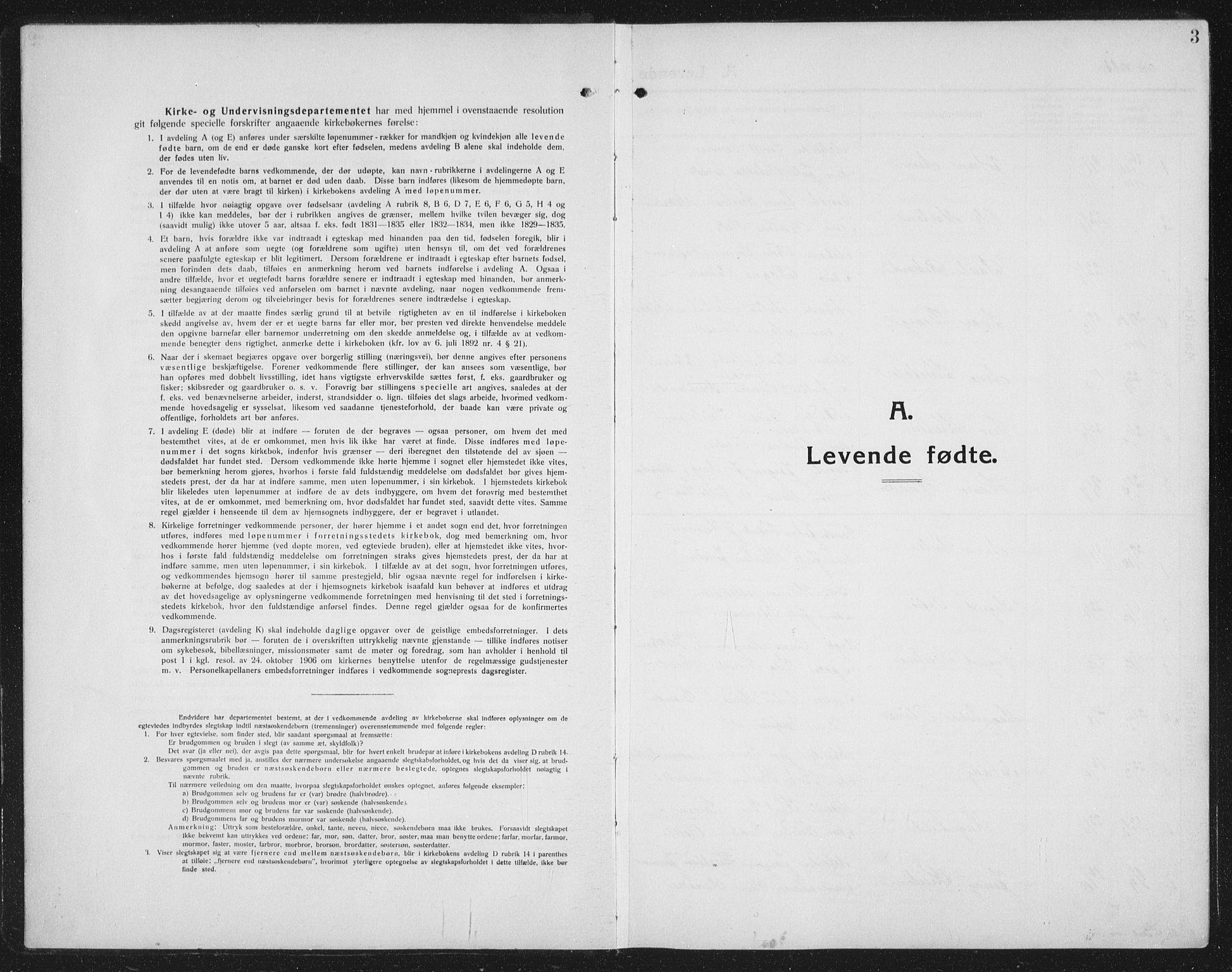 SAT, Ministerialprotokoller, klokkerbøker og fødselsregistre - Nord-Trøndelag, 731/L0312: Parish register (copy) no. 731C03, 1911-1935, p. 3