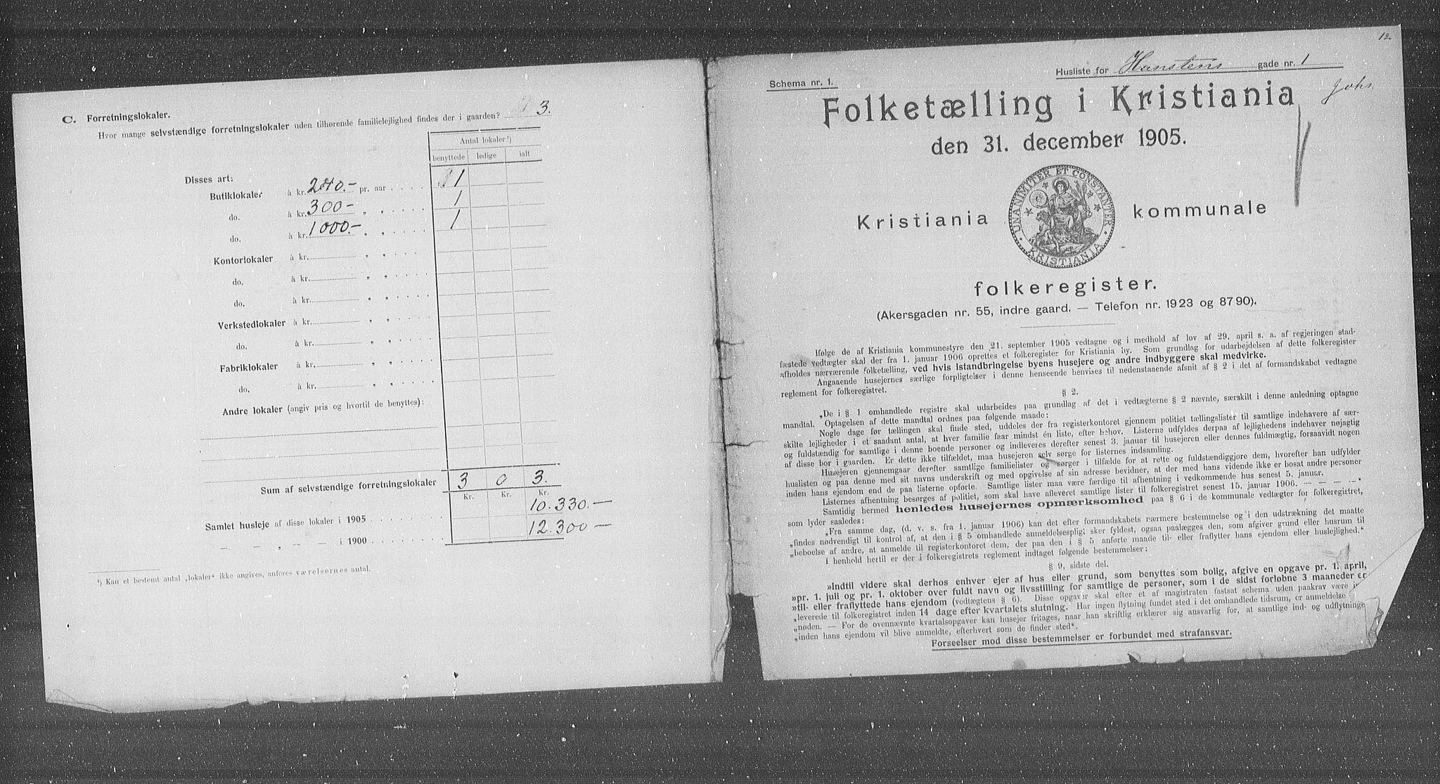 OBA, Municipal Census 1905 for Kristiania, 1905, p. 17866
