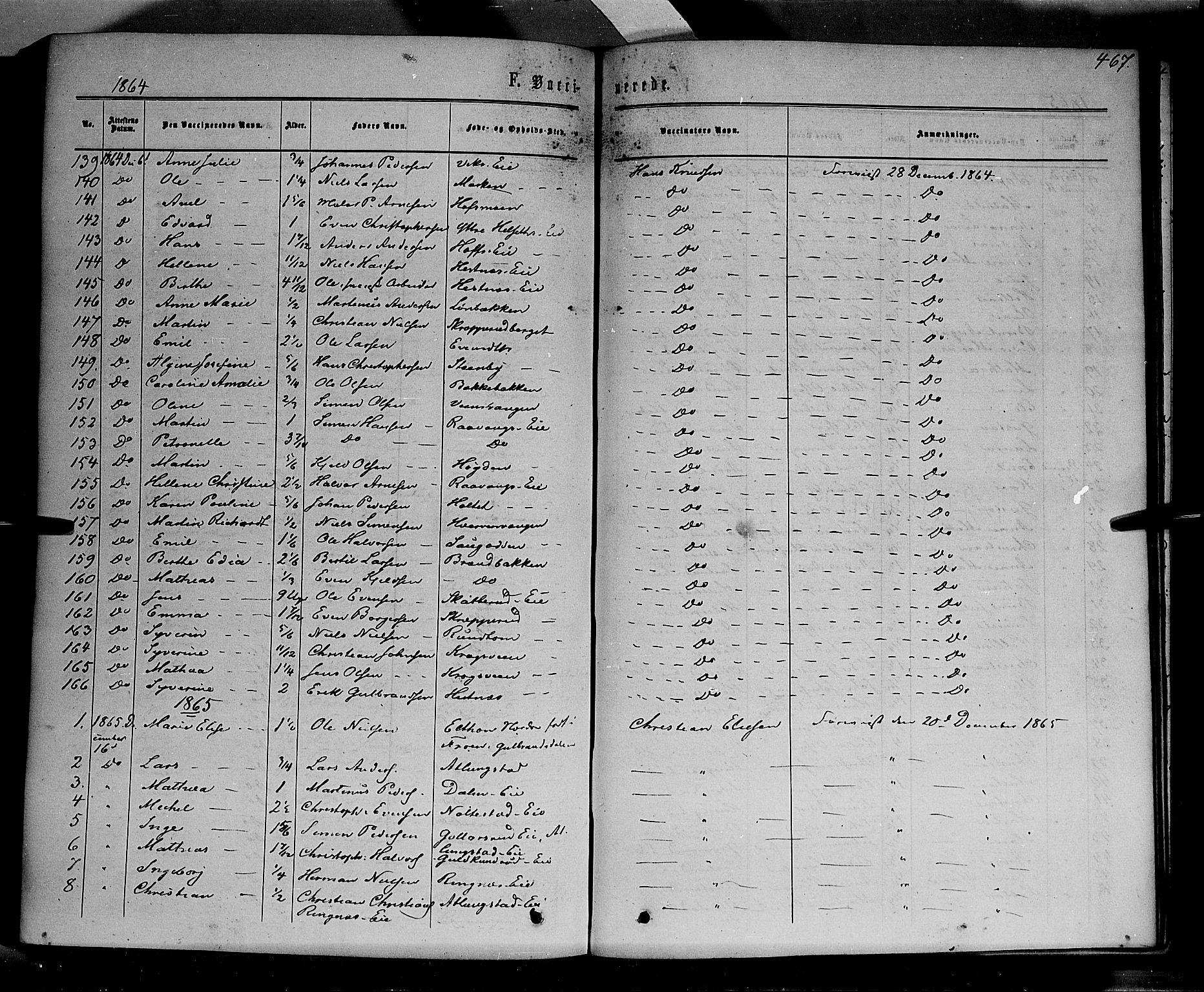 SAH, Stange prestekontor, K/L0013: Parish register (official) no. 13, 1862-1879, p. 467