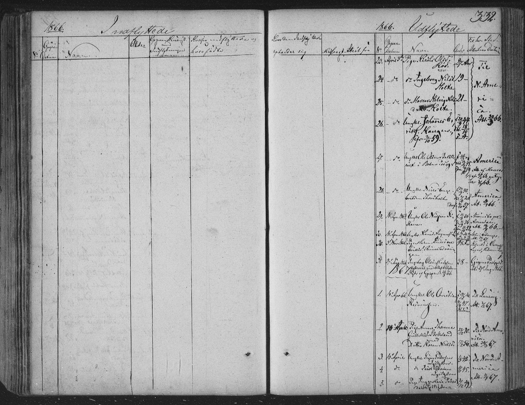 SAKO, Siljan kirkebøker, F/Fa/L0001: Parish register (official) no. 1, 1831-1870, p. 332