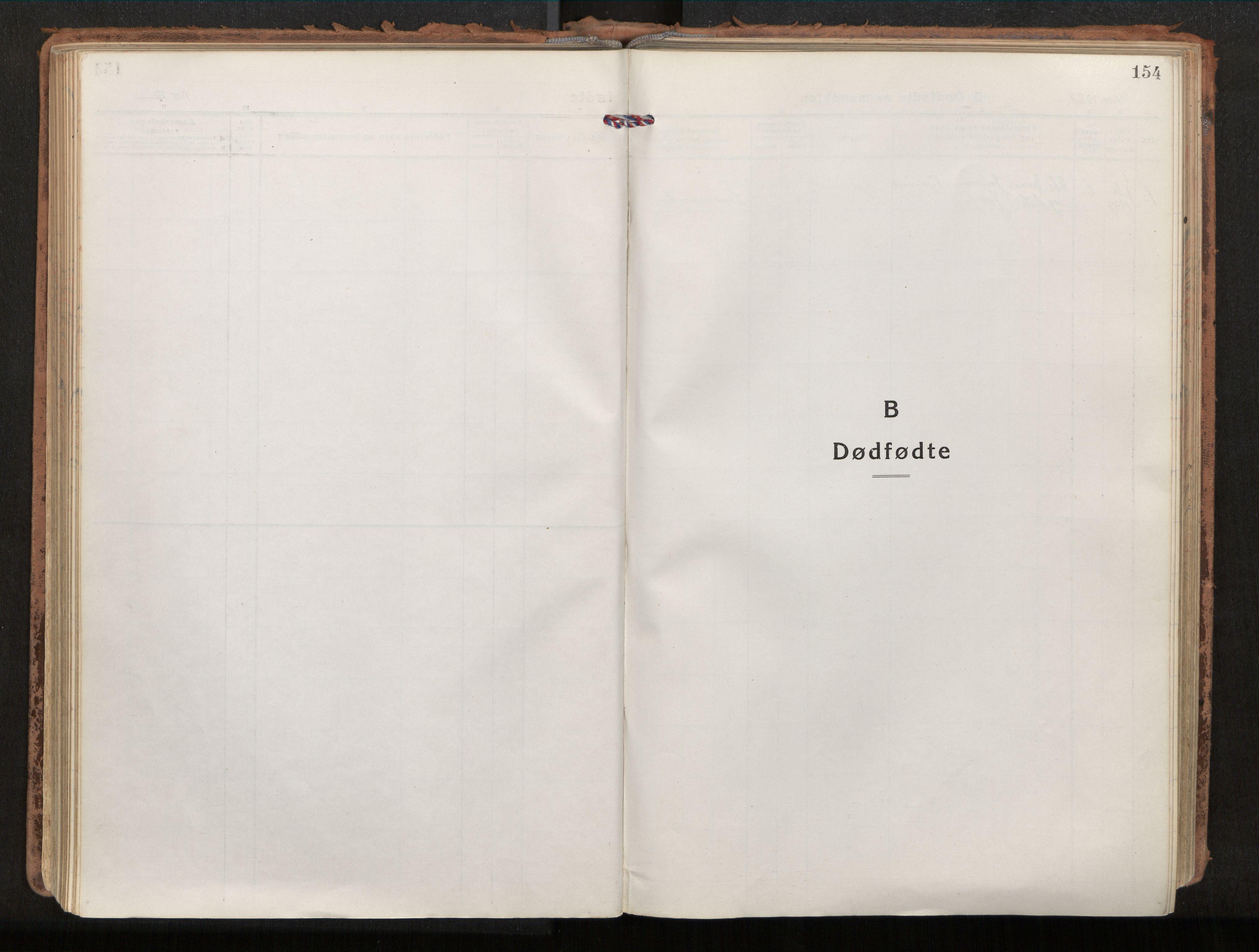 SAT, Ministerialprotokoller, klokkerbøker og fødselsregistre - Nordland, 880/L1136: Parish register (official) no. 880A10, 1919-1927, p. 154
