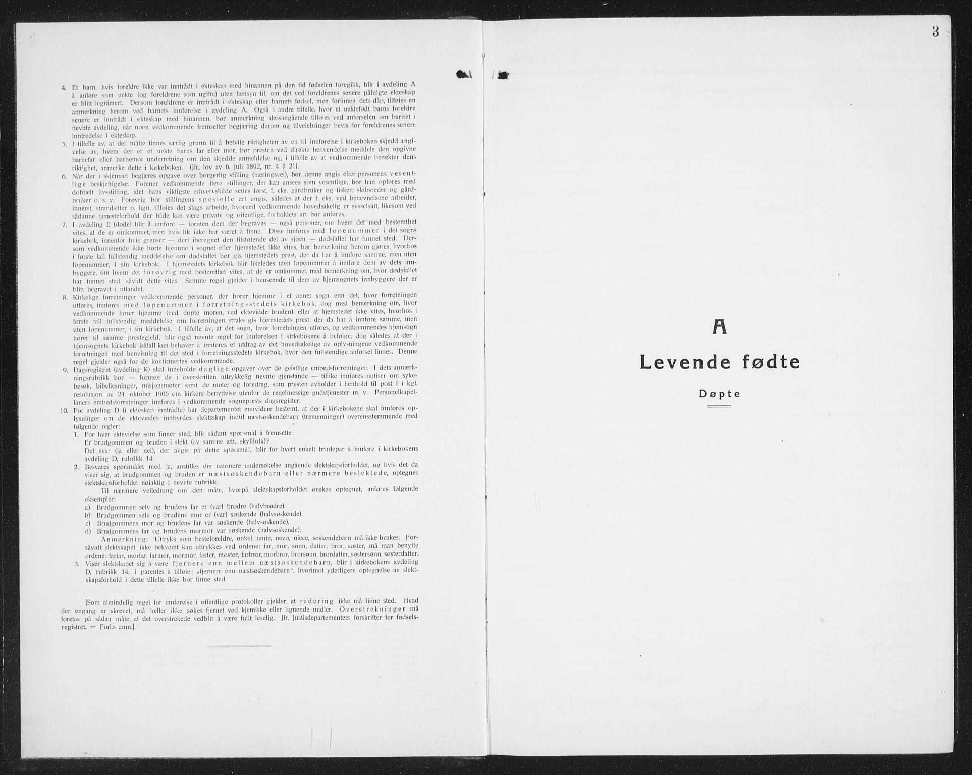 SAT, Ministerialprotokoller, klokkerbøker og fødselsregistre - Nordland, 877/L1117: Parish register (copy) no. 877C01, 1923-1942, p. 3